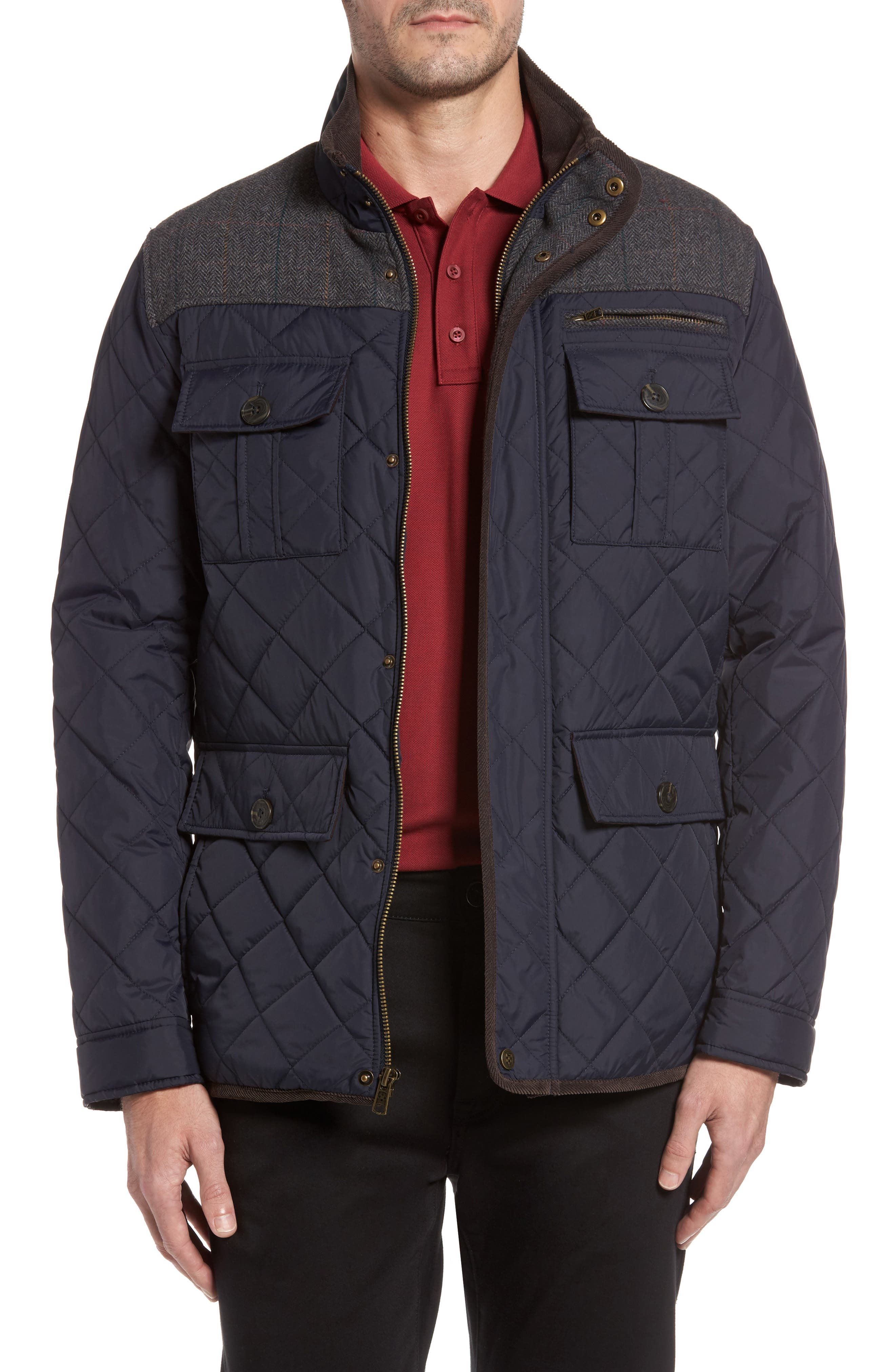 Alternate Image 1 Selected - Vince Camuto Diamond Quilted Full Zip Jacket (Online Only)