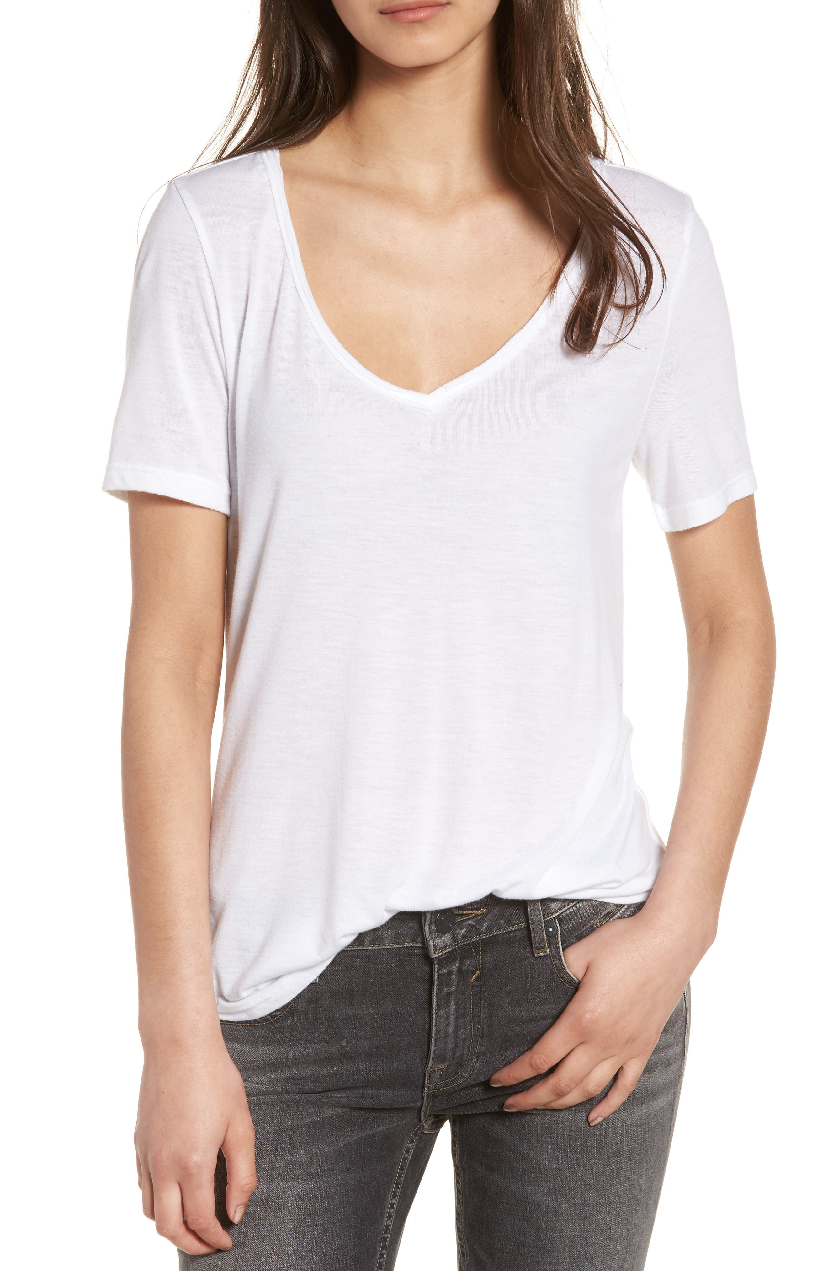 BP. Raw Edge V-Neck Tee