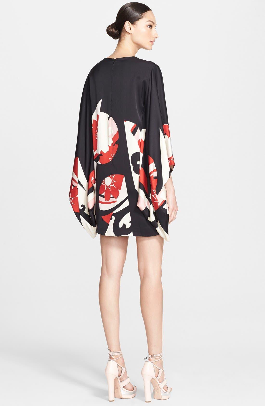 Alternate Image 2  - Alexander McQueen Print Satin Caftan Dress