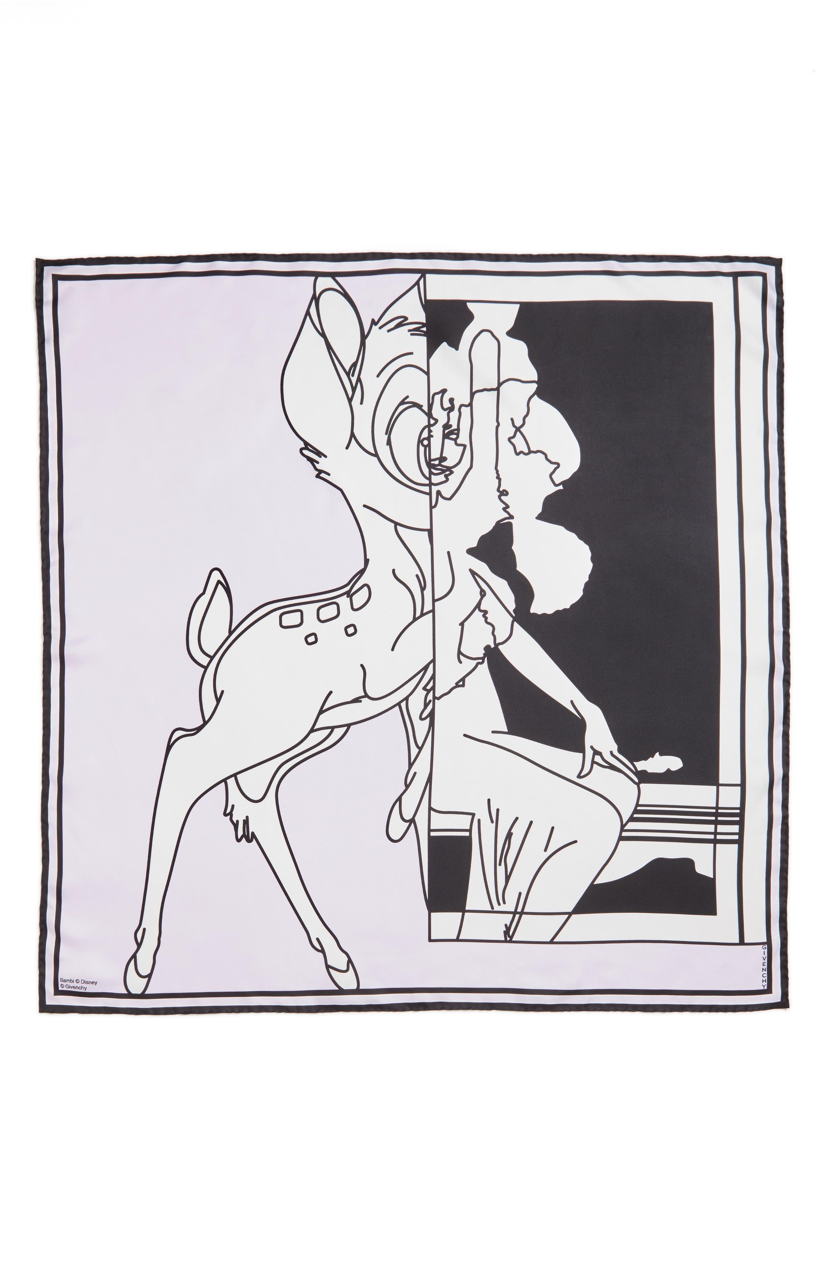 Givenchy Bambi Print Square Scarf