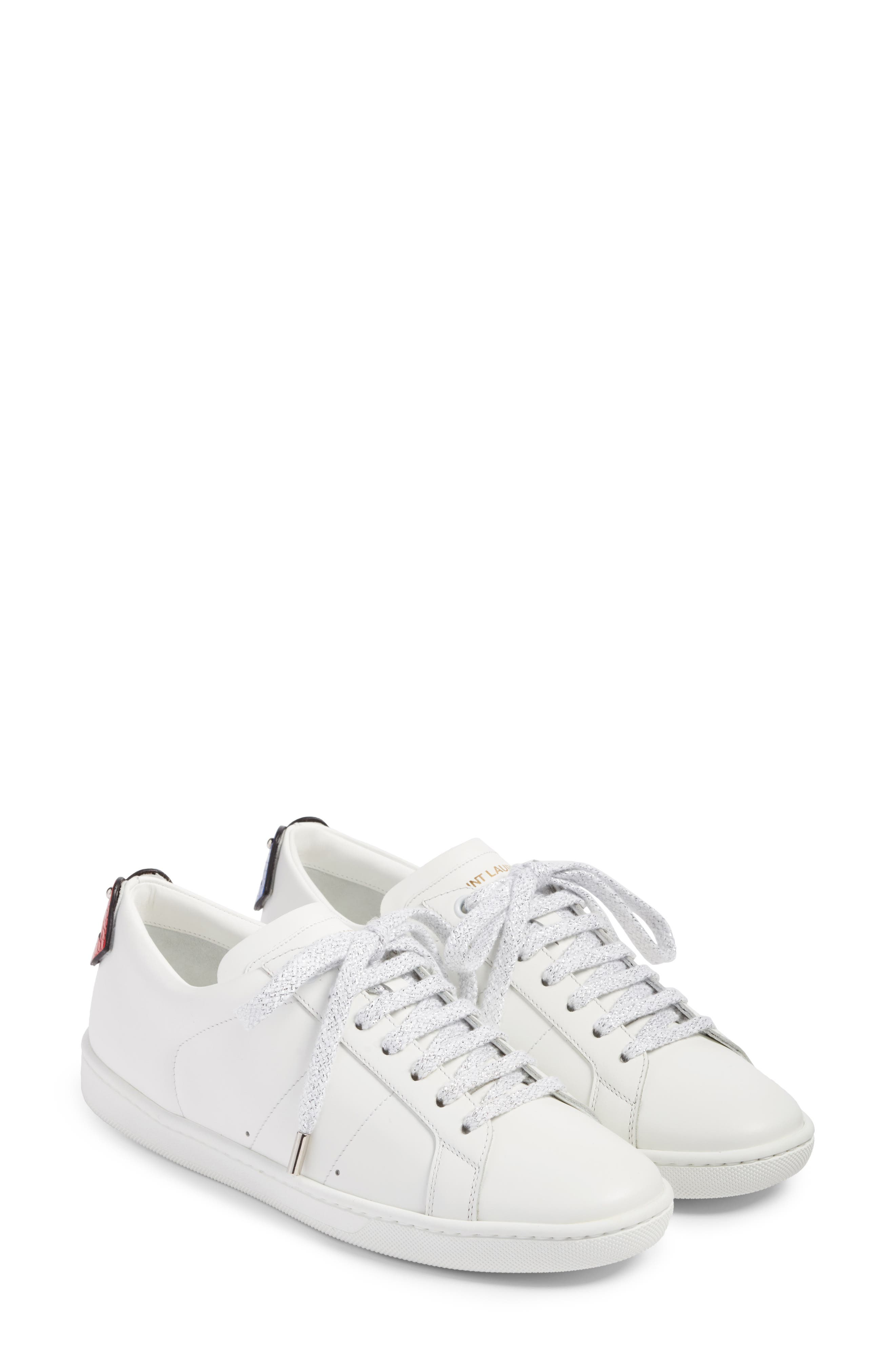 Saint Laurent Court Classic Lips Sneaker (Women)