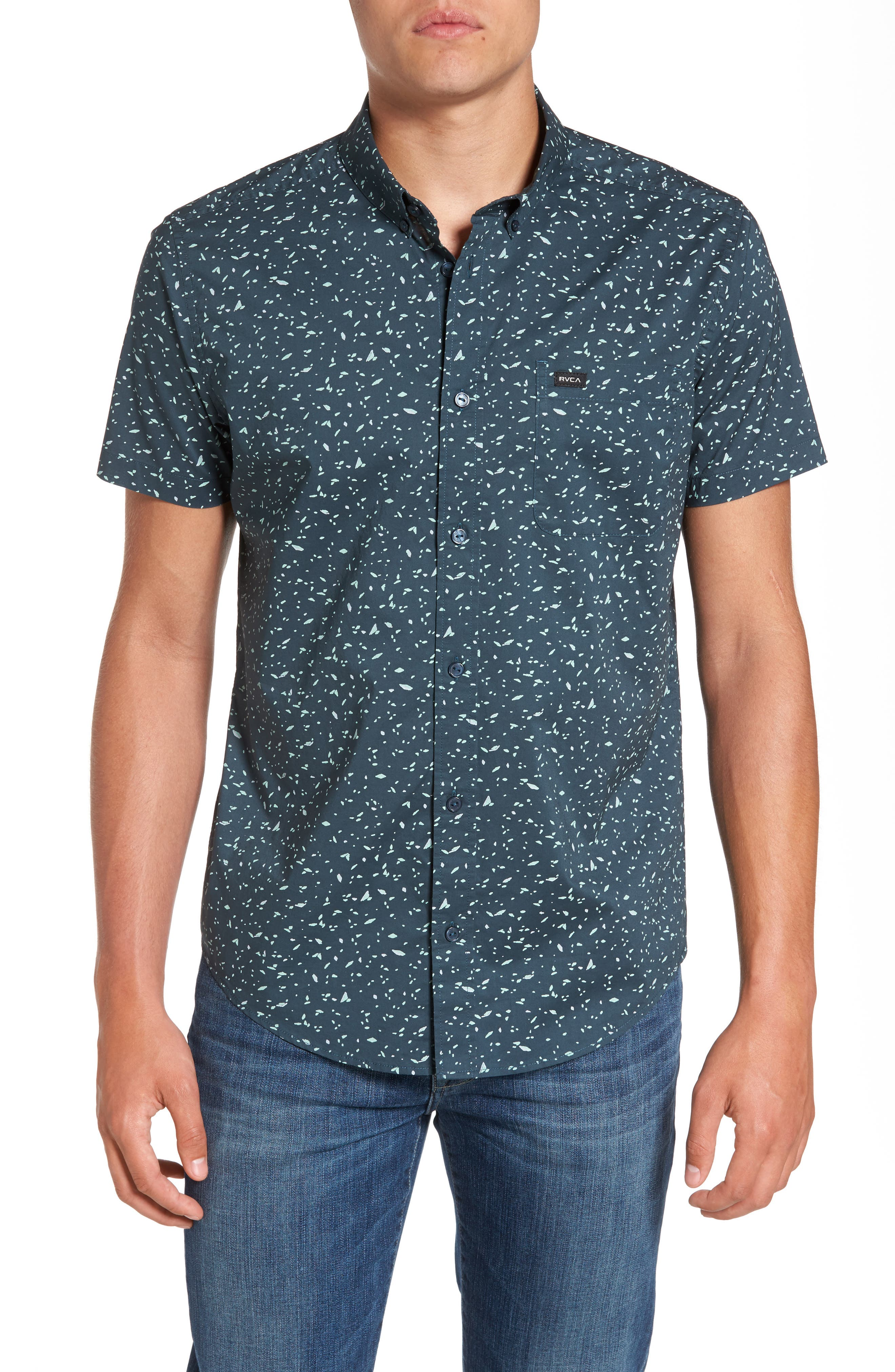 RVCA Galaxy Spatter-Print Woven Shirt