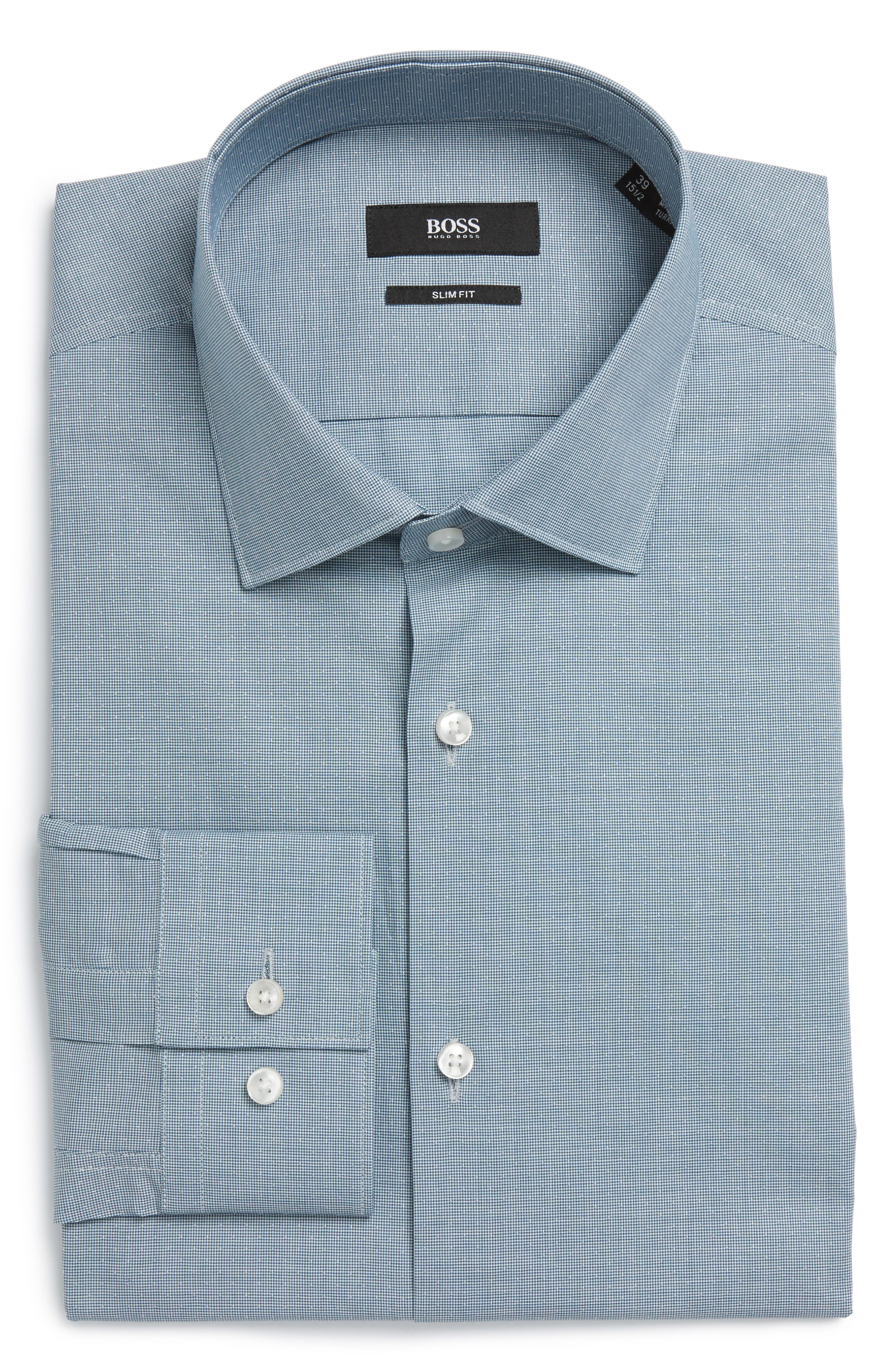 BOSS Ismo Slim Fit Solid Dress Shirt