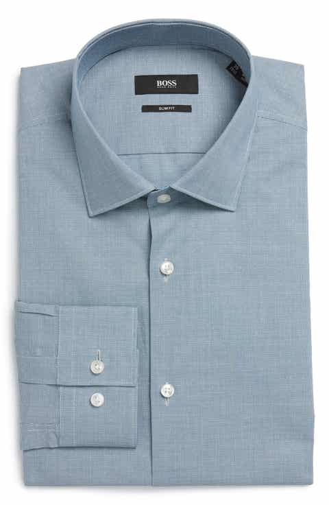 BOSS Ismo Slim Fit Solid Dress Shirt