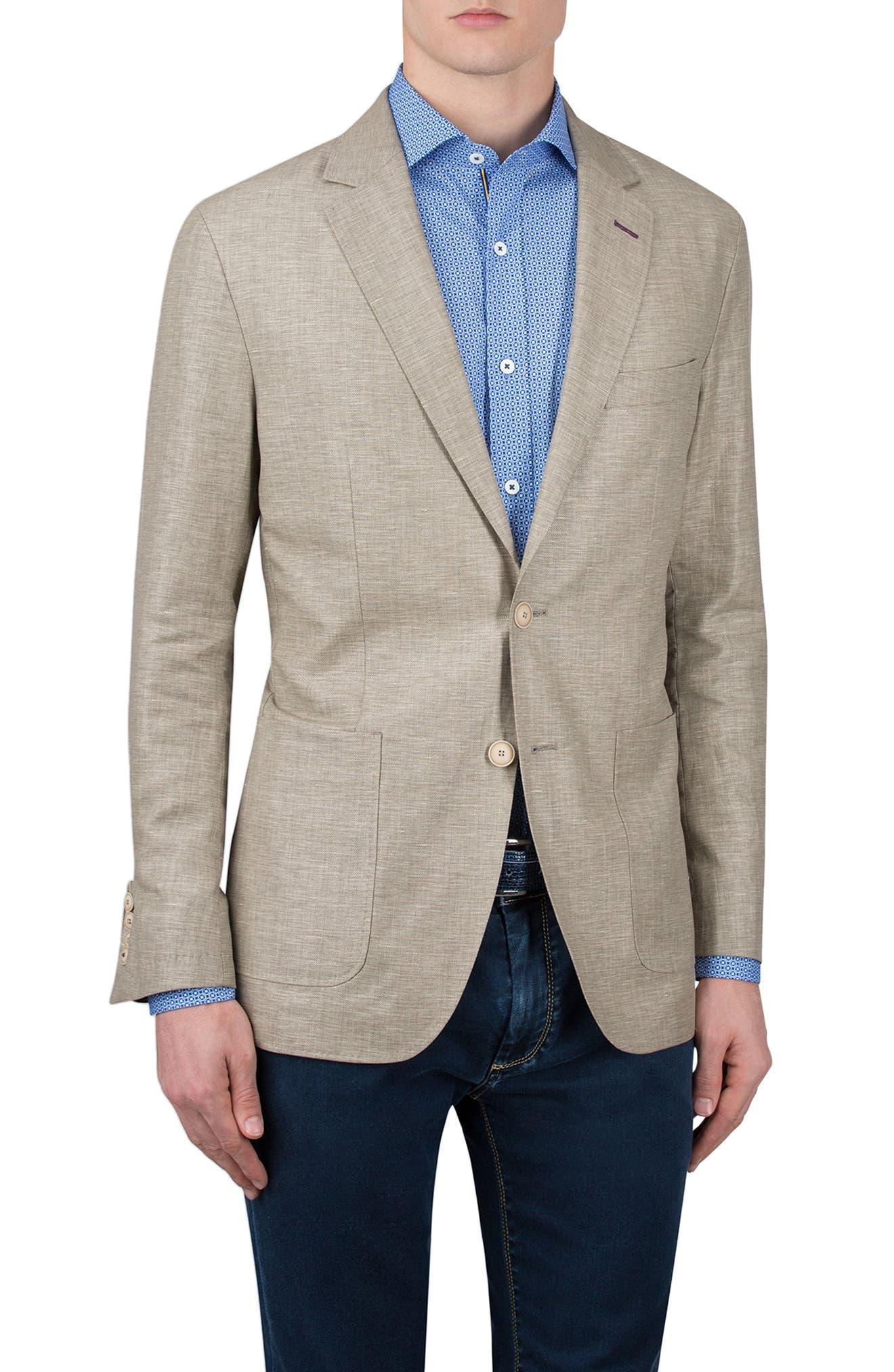 Bugatchi Cotton & Linen Blazer