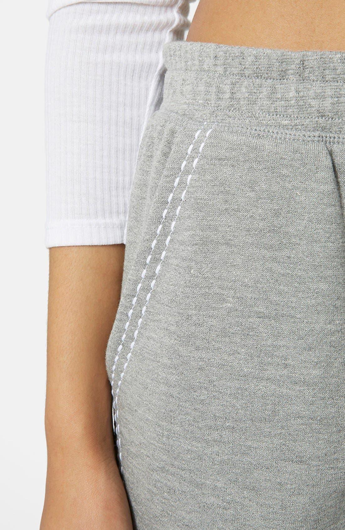 Alternate Image 4  - Topshop Pickstitch Jogger Pants