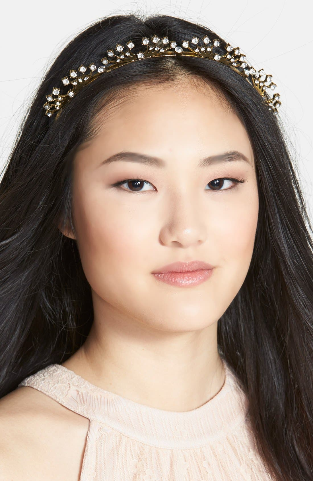 Main Image - Untamed Petals by Amanda Judge x Meredith Markworth-Pollack 'Royal Tiara' Gilded Headband