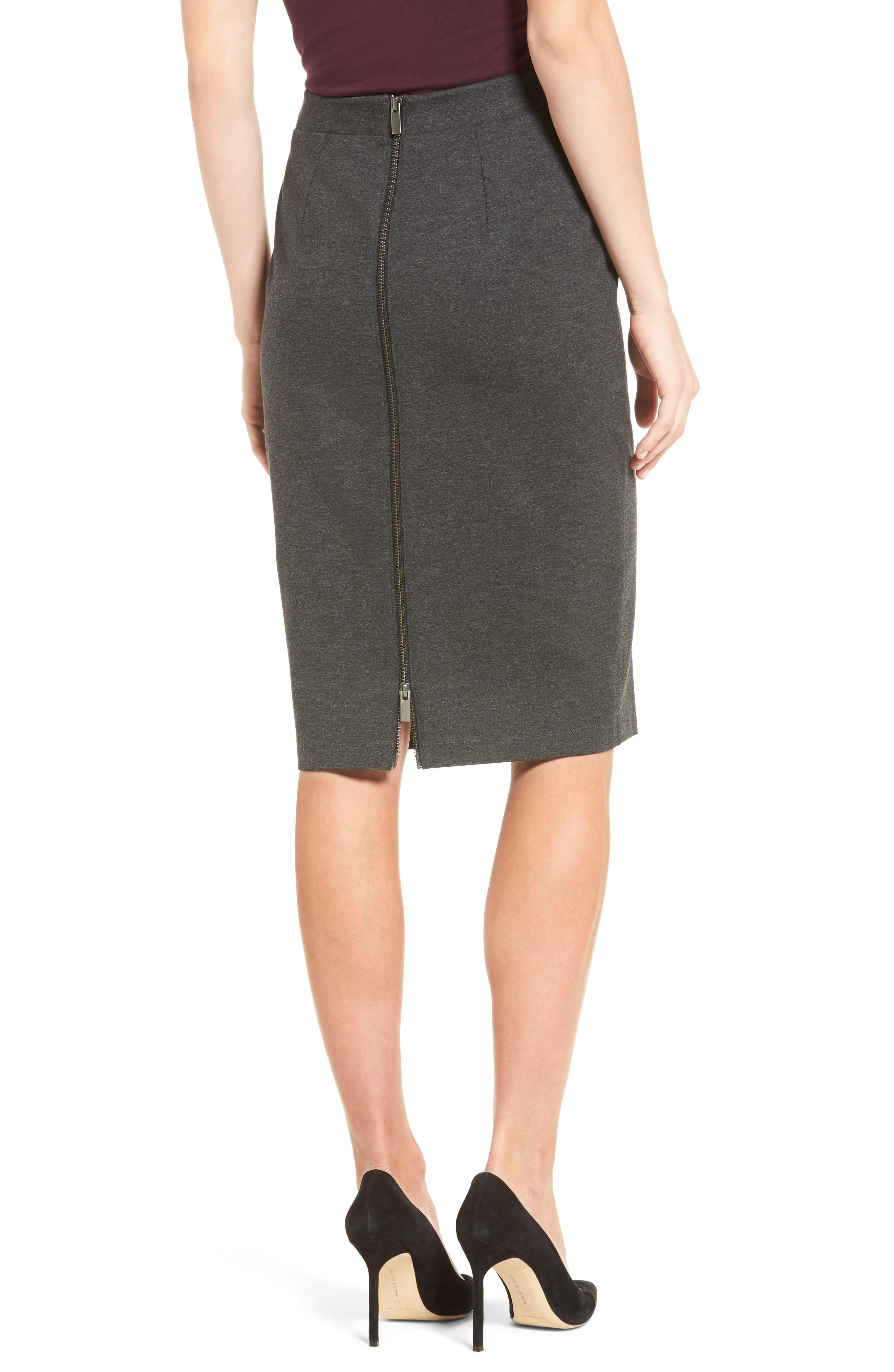 Alternate Image 2  - Halogen® Ponte Pencil Skirt (Regular & Petite)