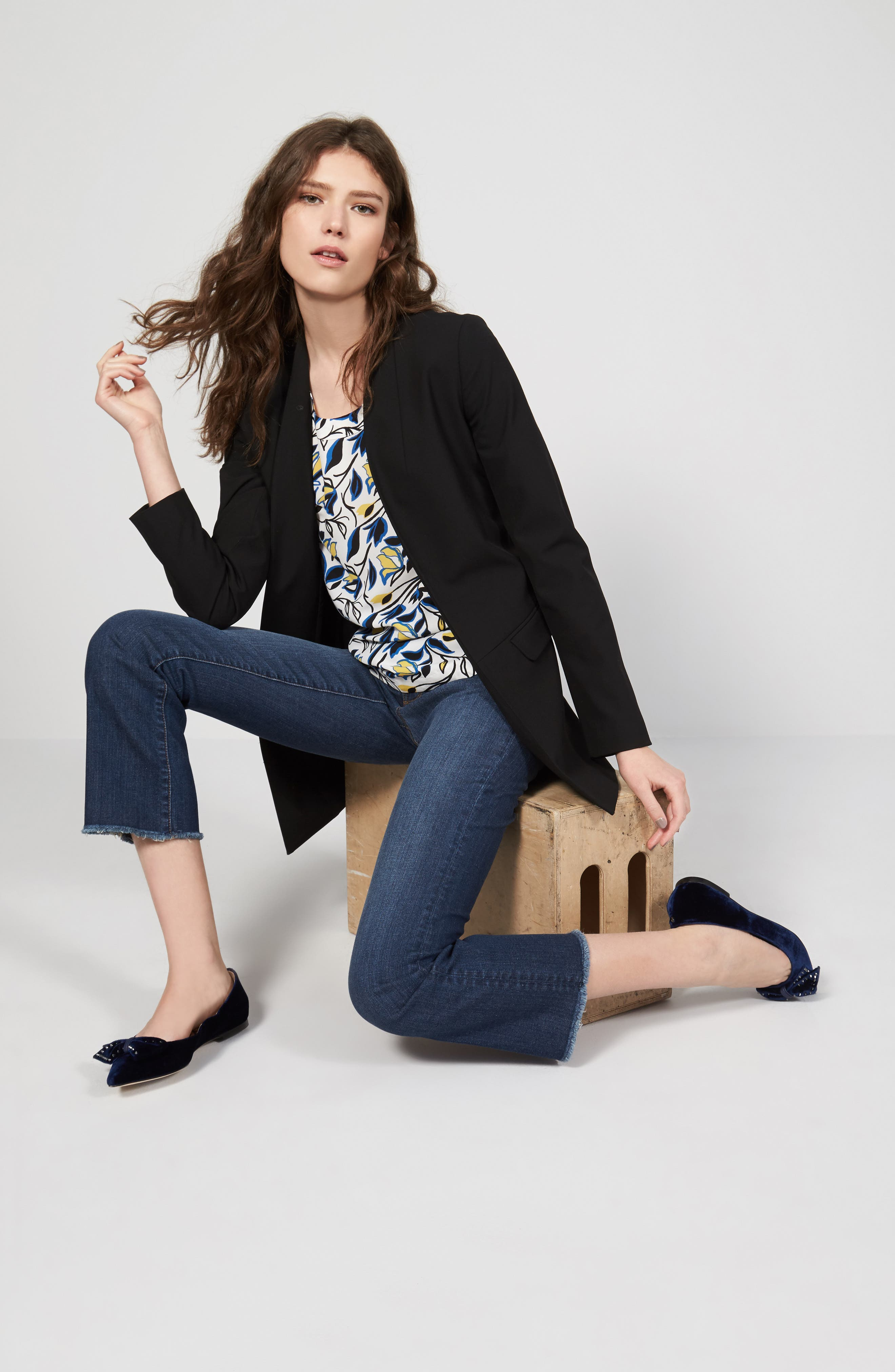 Halogen® Blazer & Top Outfit with Accessories