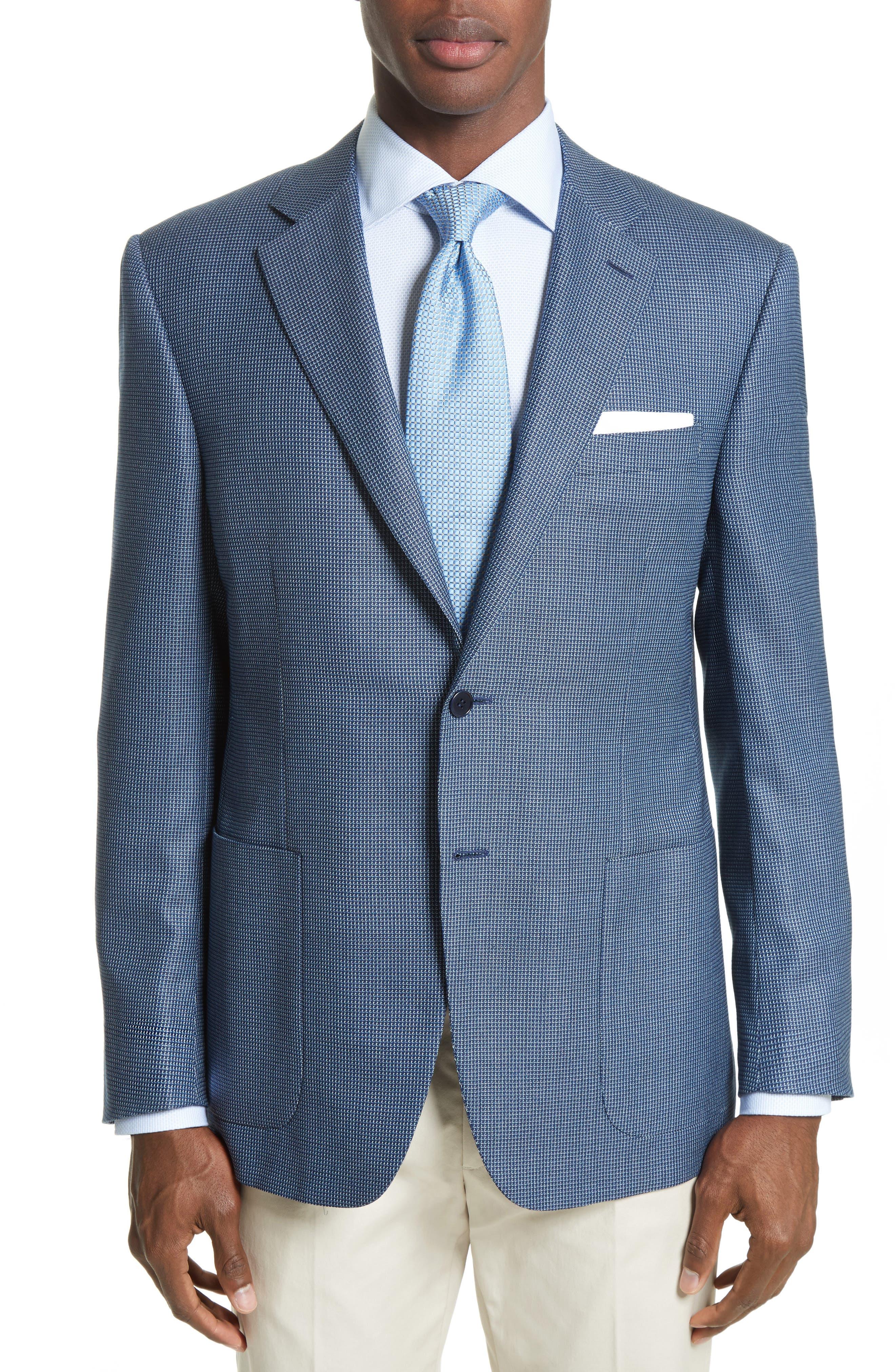 Canali Siena Classic Fit Silk & Wool Blazer