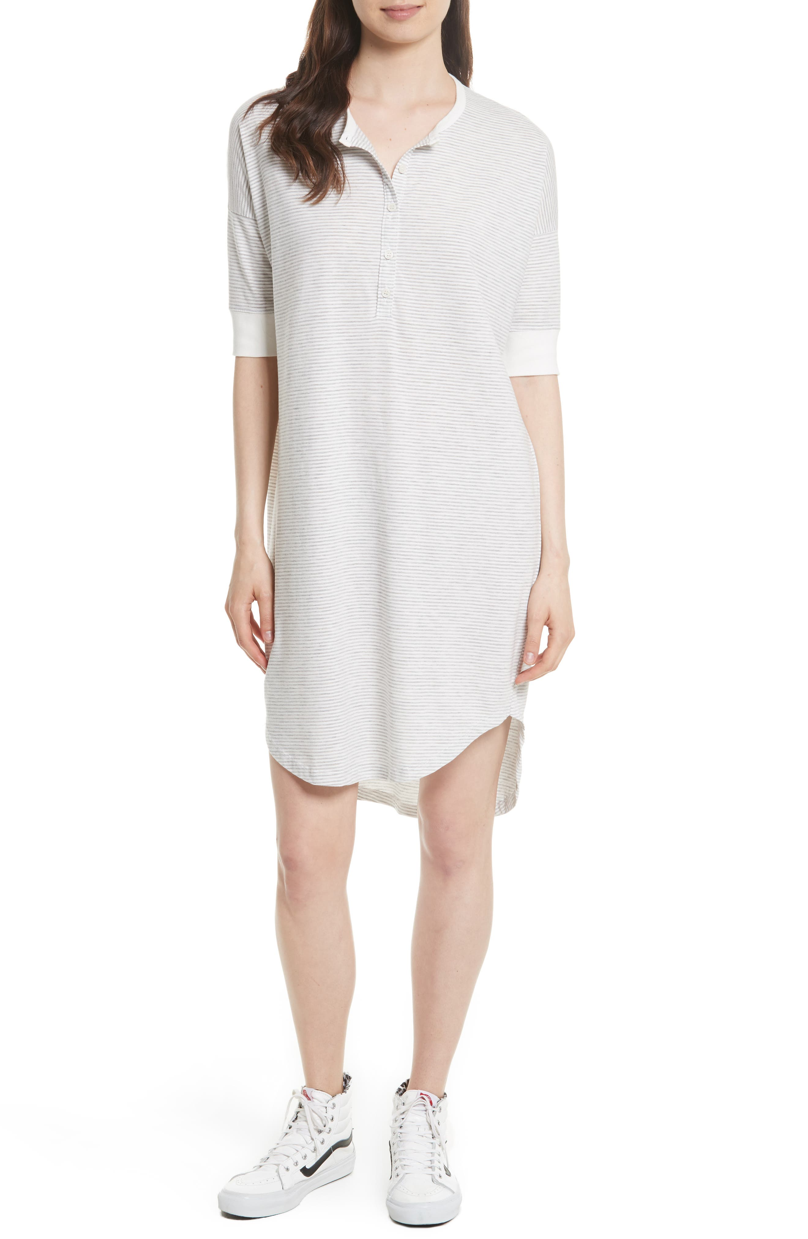 THE GREAT. The Wedge Henley Dress (Nordstrom Exclusive)