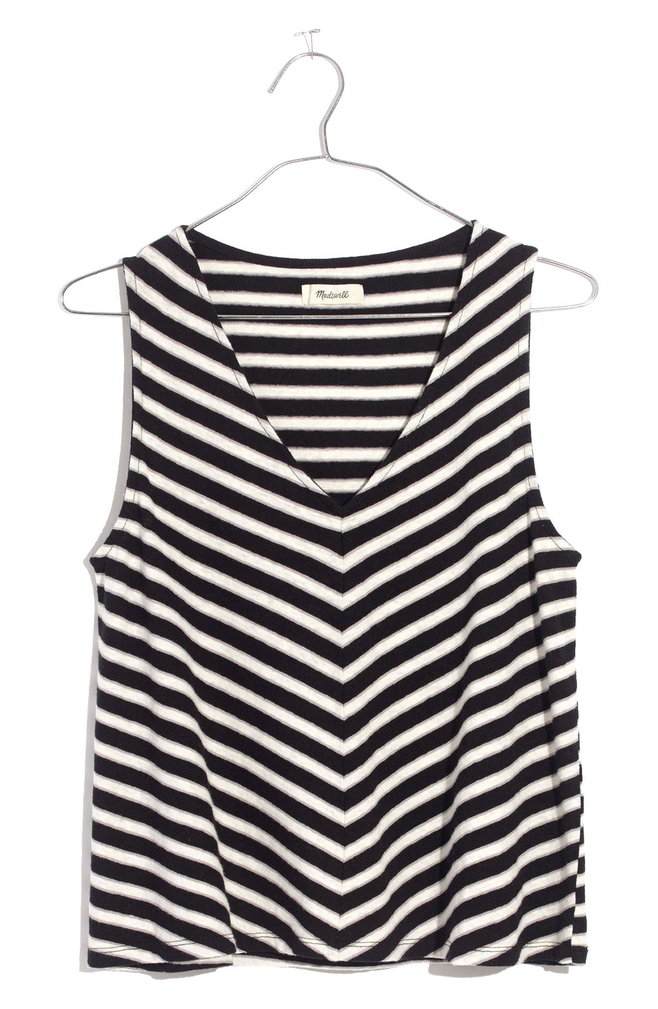 Alternate Image 1 Selected - Madewell Chevron Stripe Swing Tank