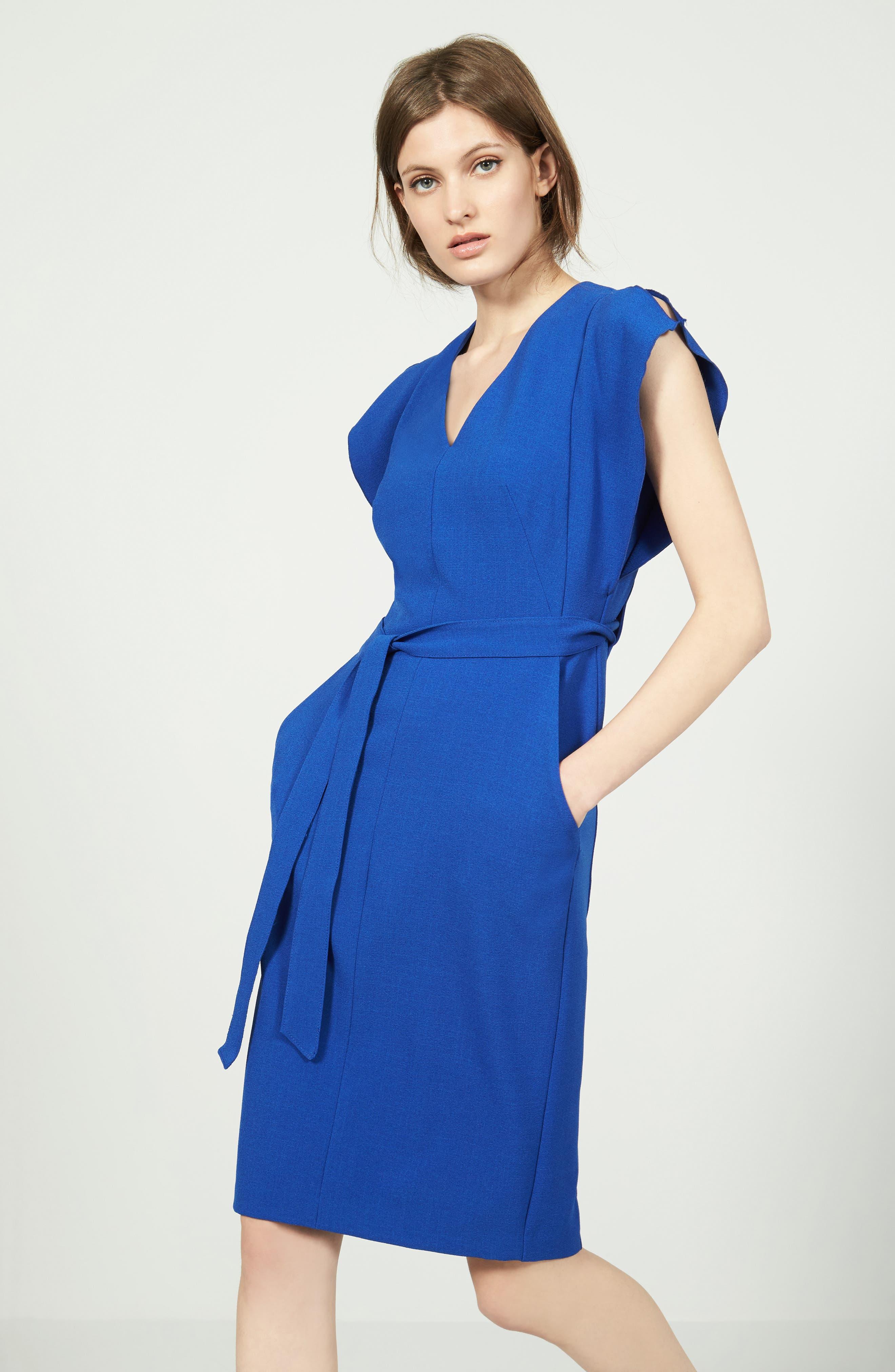 Alternate Image 2  - Eliza J Ruffle Sleeve Sheath Dress