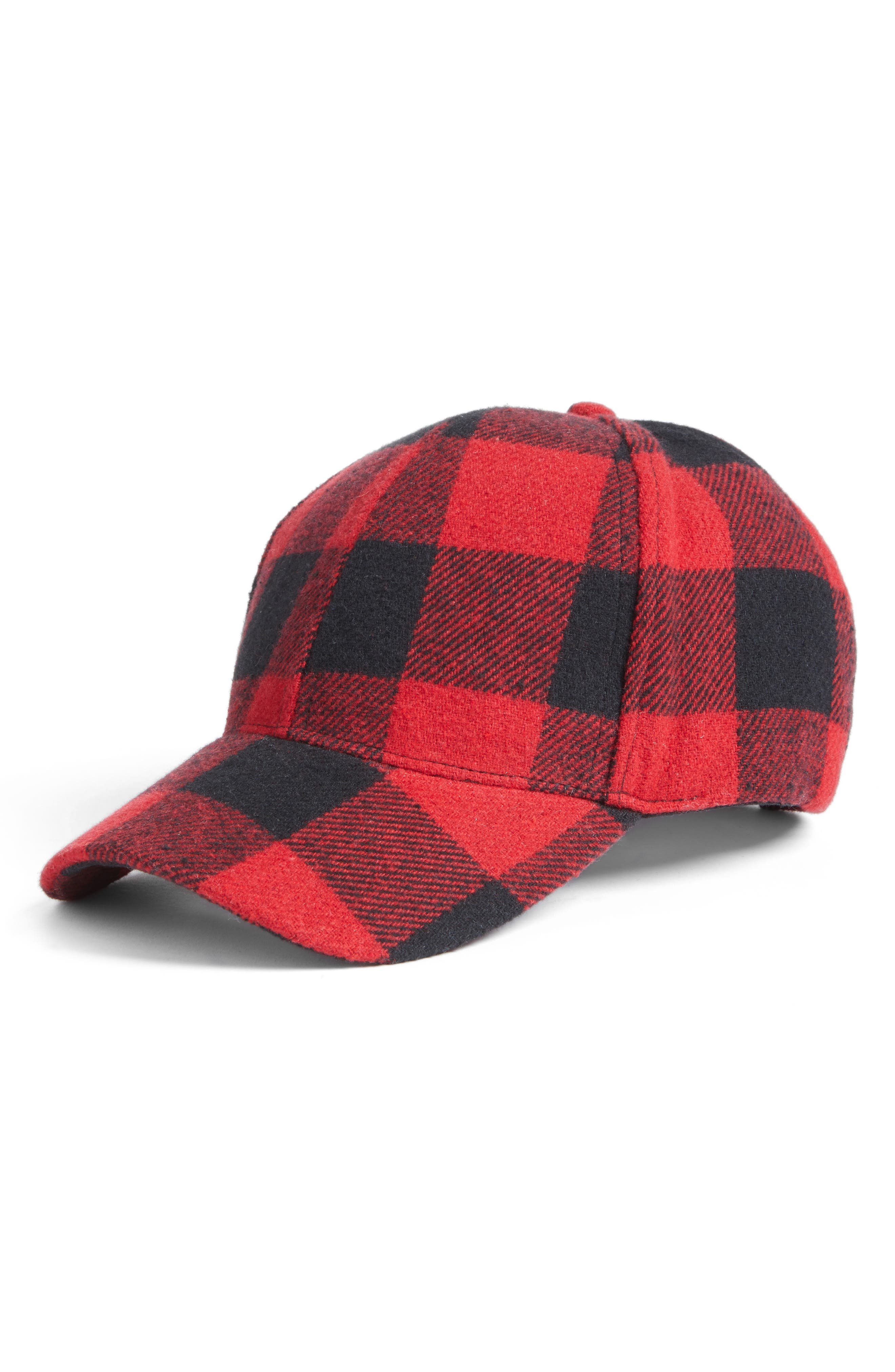BP. Buffalo Check Baseball Cap