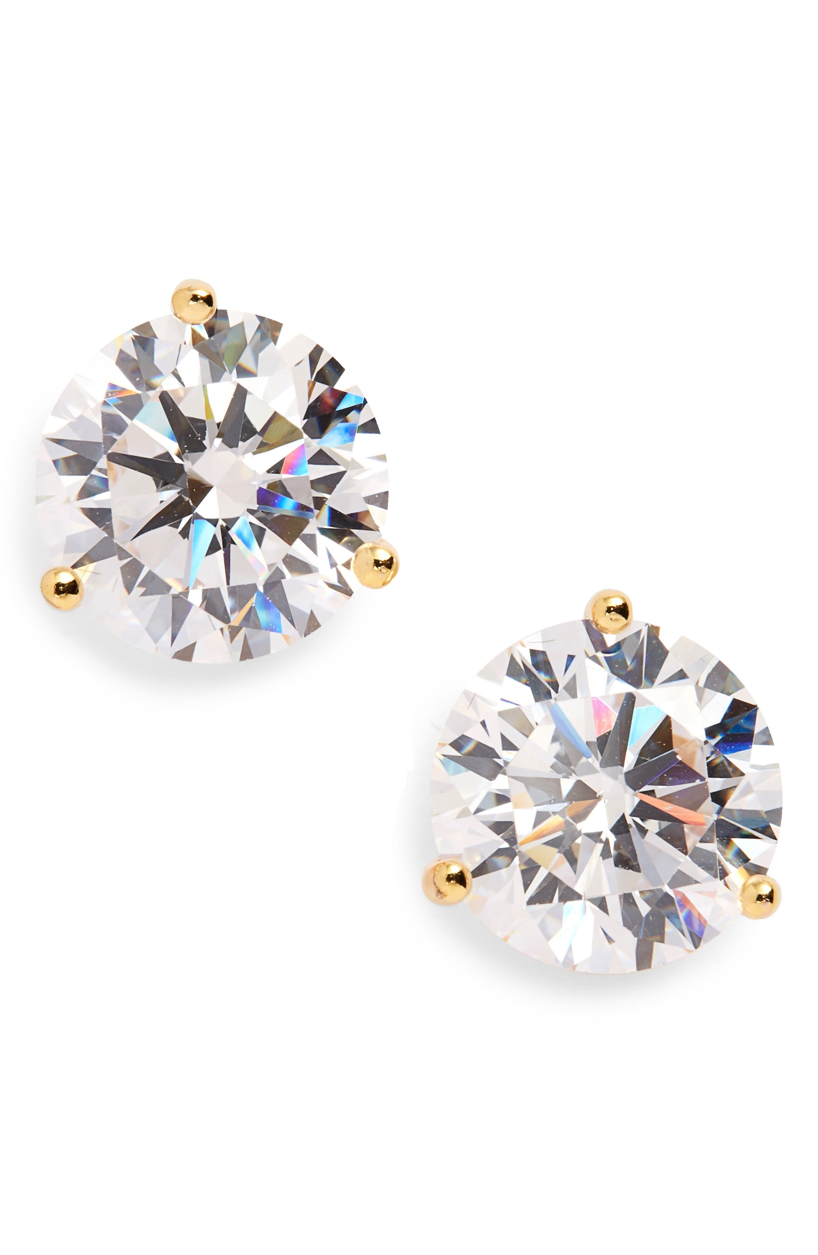 Alternate Image 1 Selected - Nordstrom Precious Metal Plated 8ct tw Cubic Zirconia Earrings
