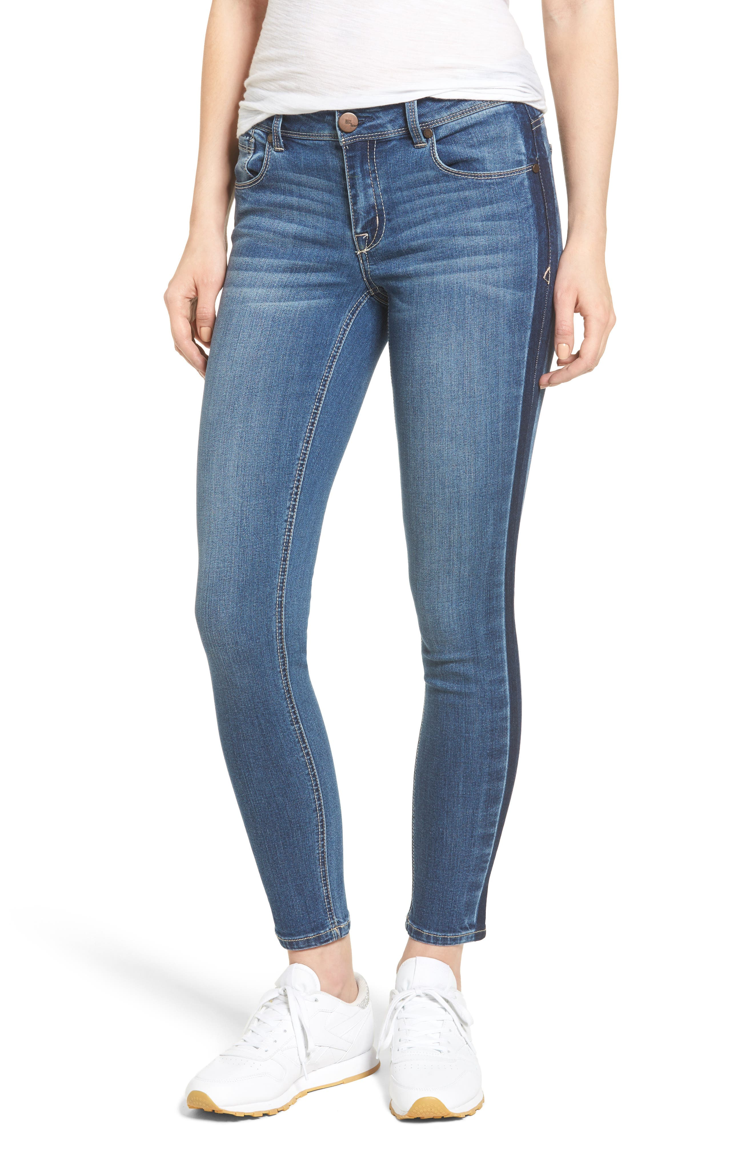 1822 Denim Side Stripe Skinny Jeans (Louise)