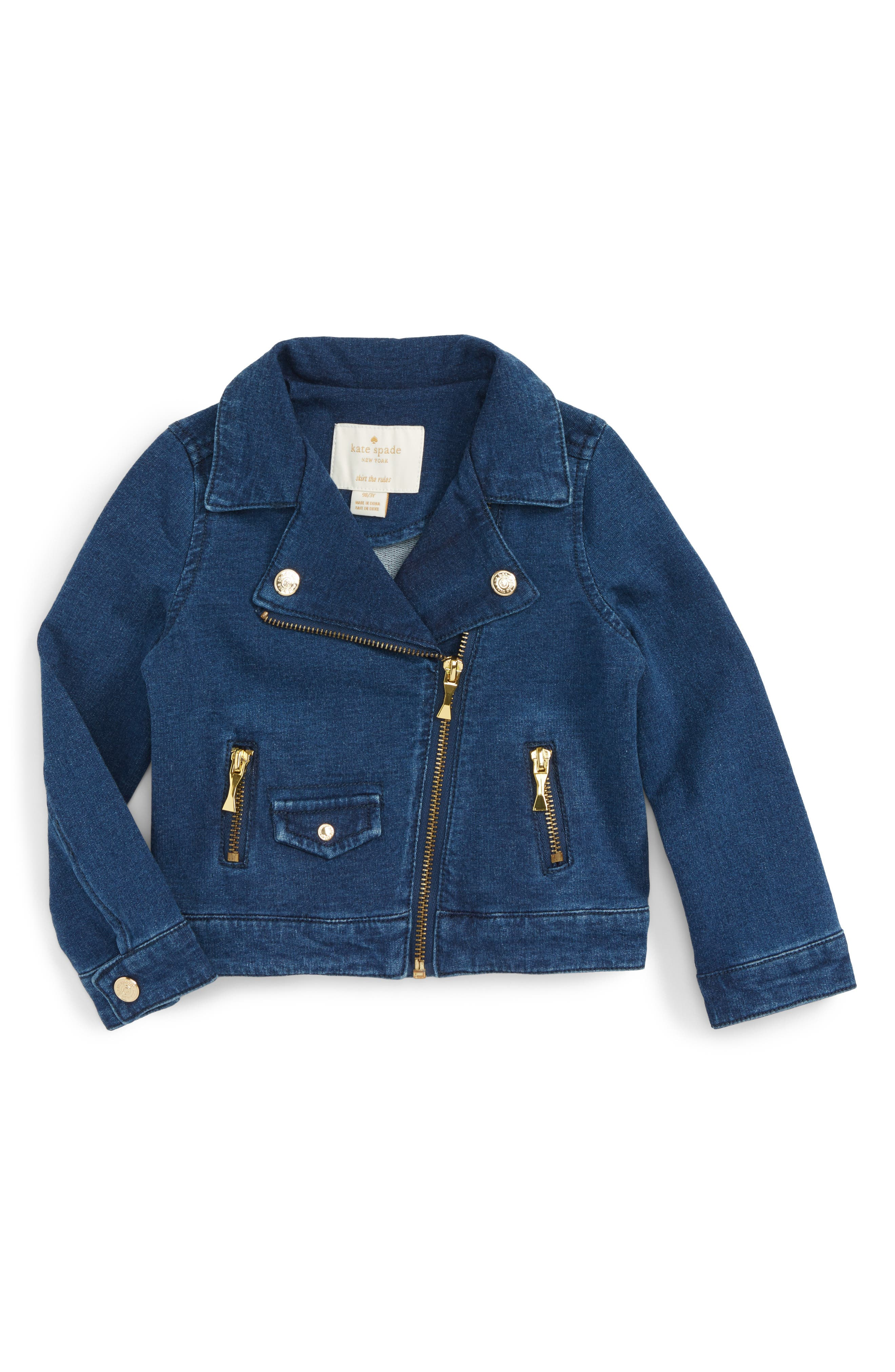kate spade new york knit moto jacket (Todder Girls & Little Girls)