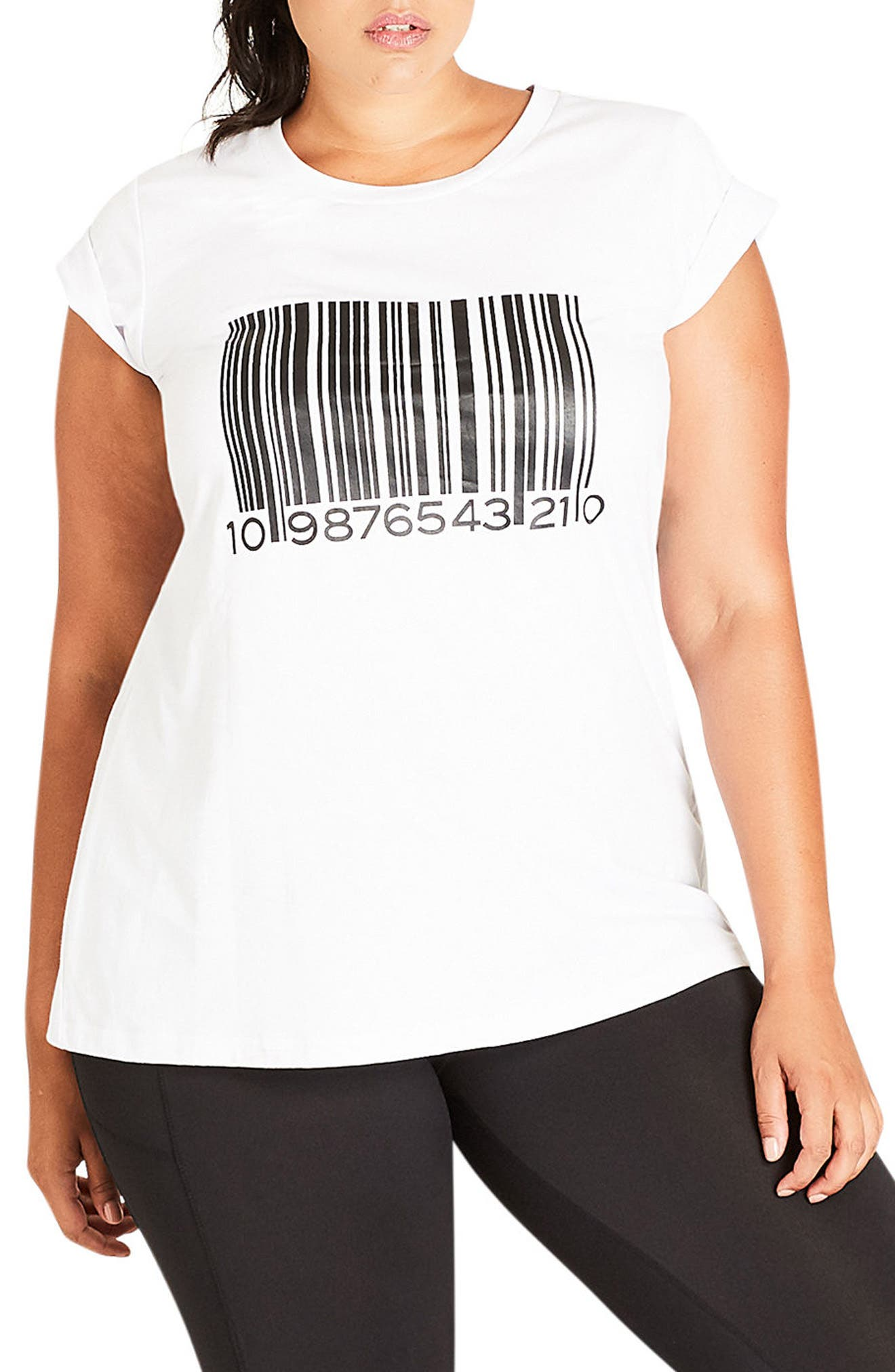 City Chic Barcode Tee (Plus Size)