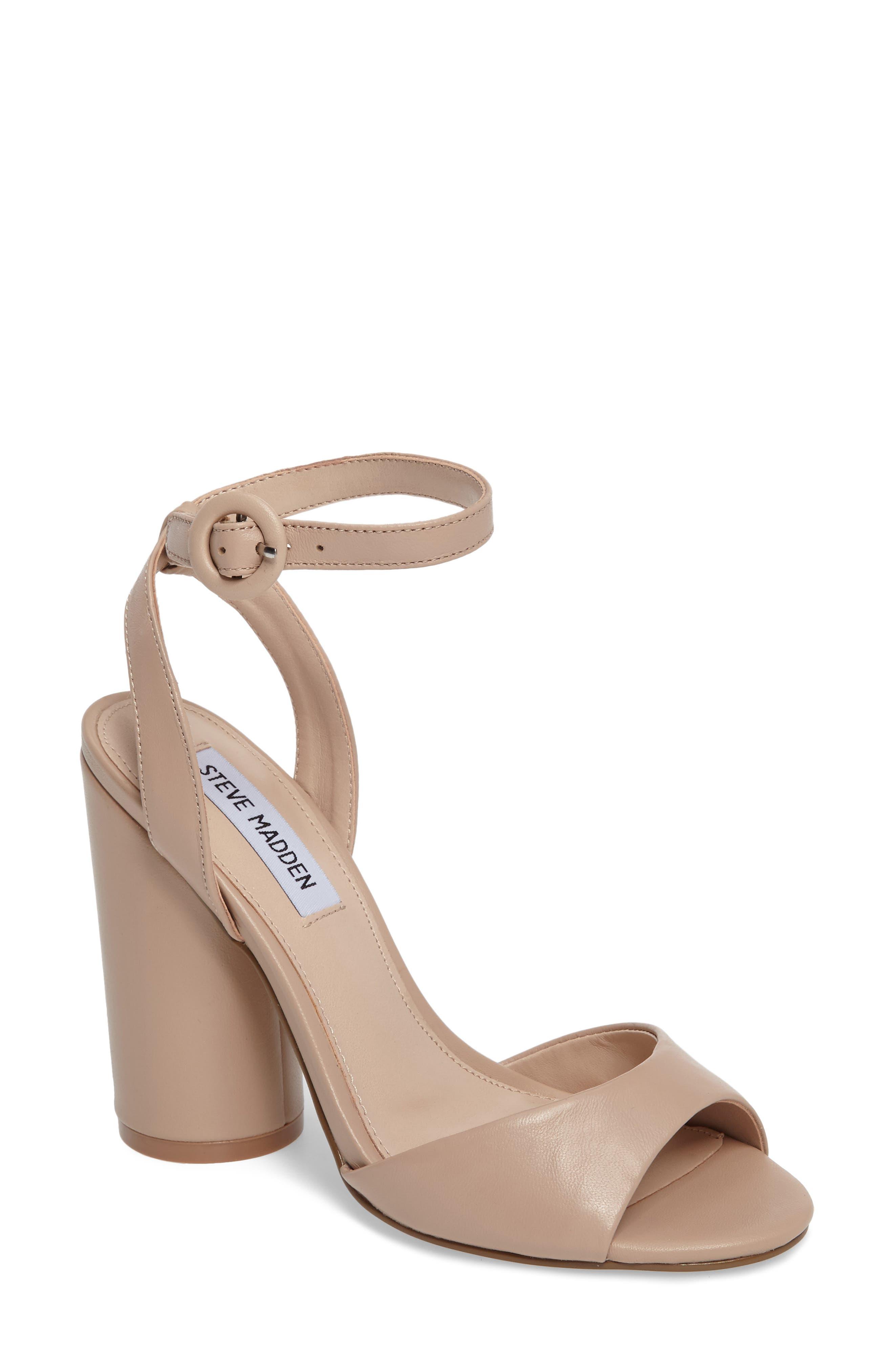 Steve Madden Clare Column Heel Sandal (Women)