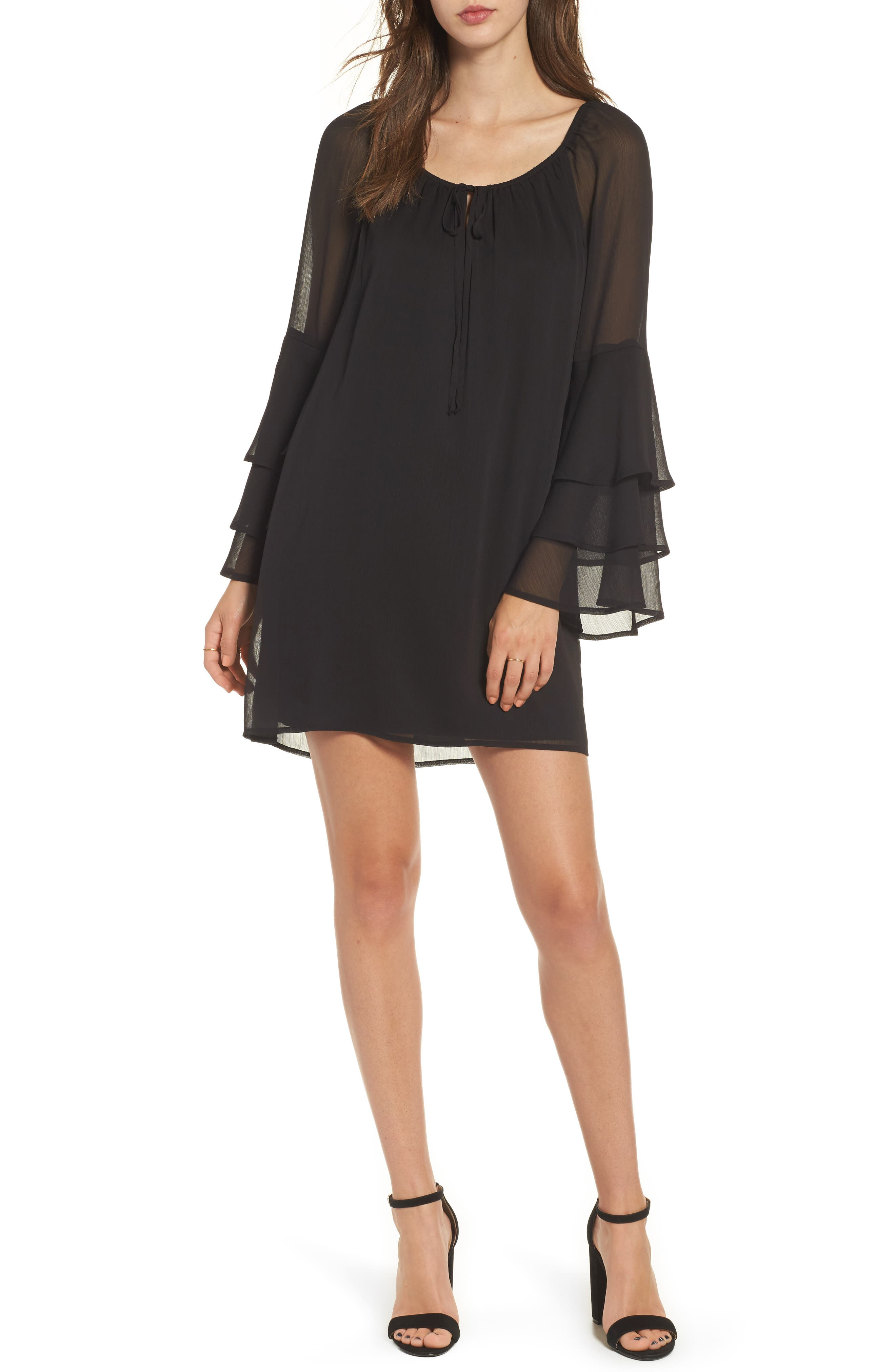 As U Wish Ruffle Sleeve Dress