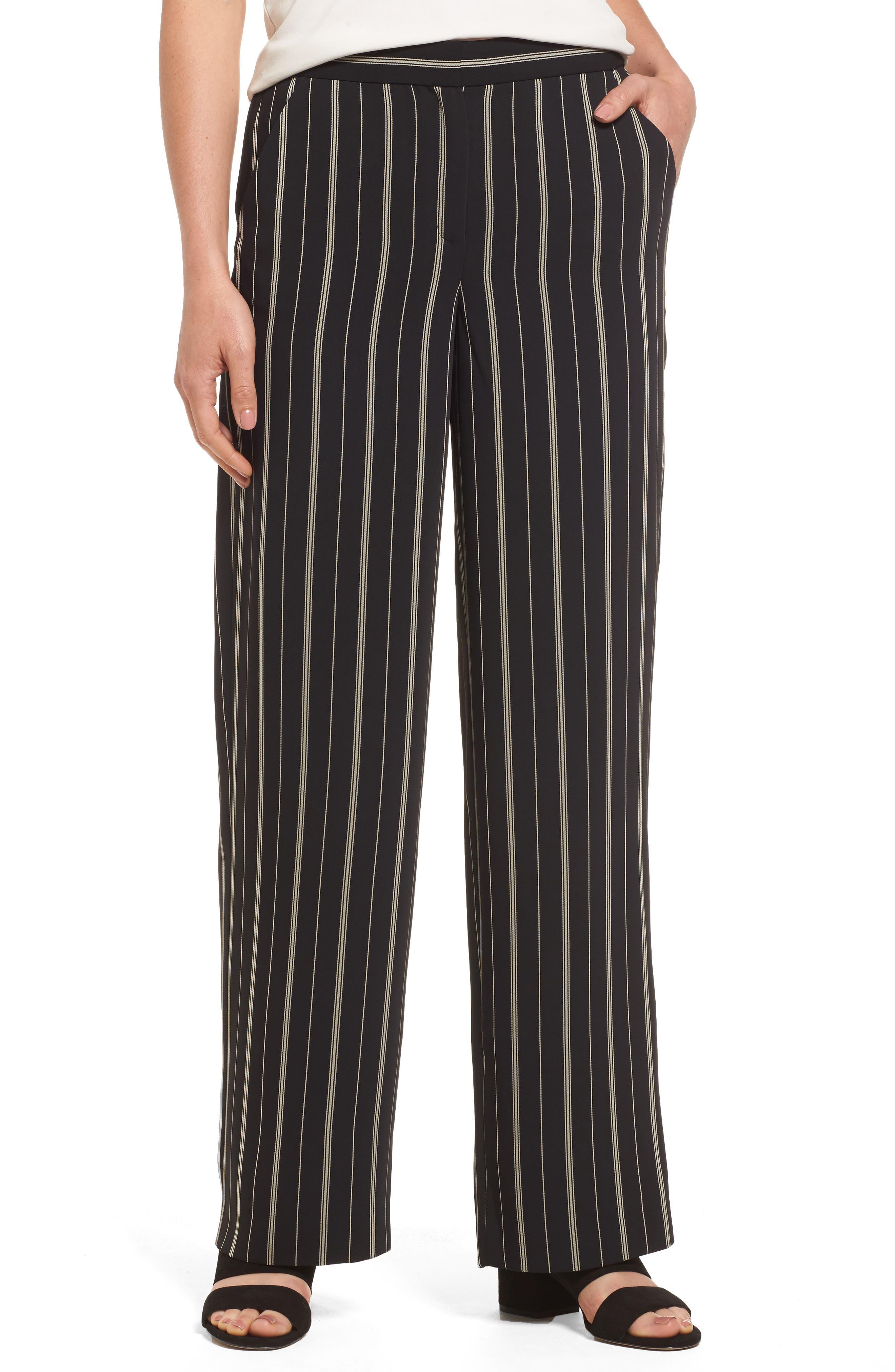 Vince Camuto Stripe Slim Leg Pants