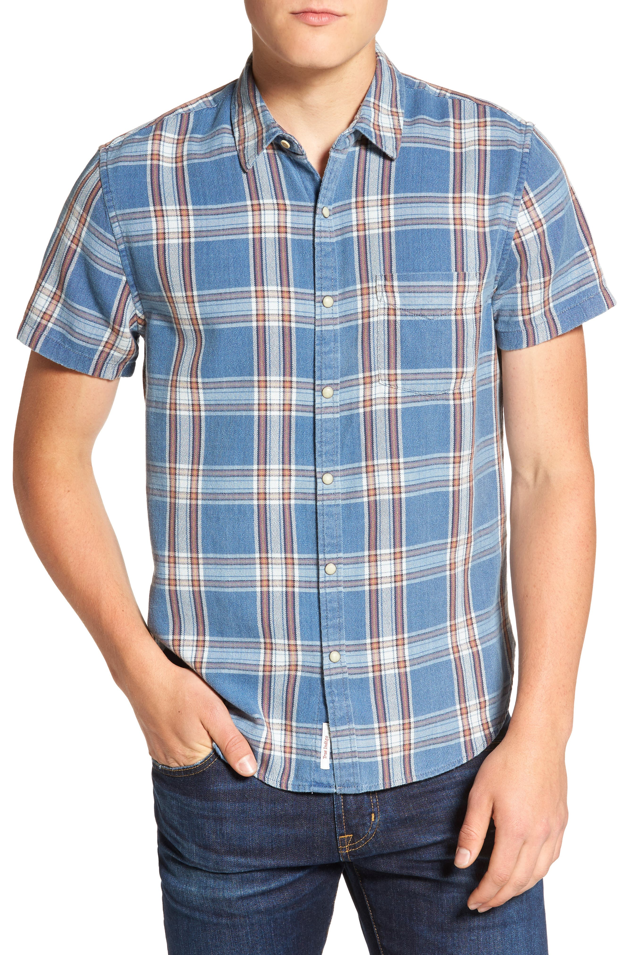 Lucky Brand Slim Fit Ballona Washed Plaid Shirt