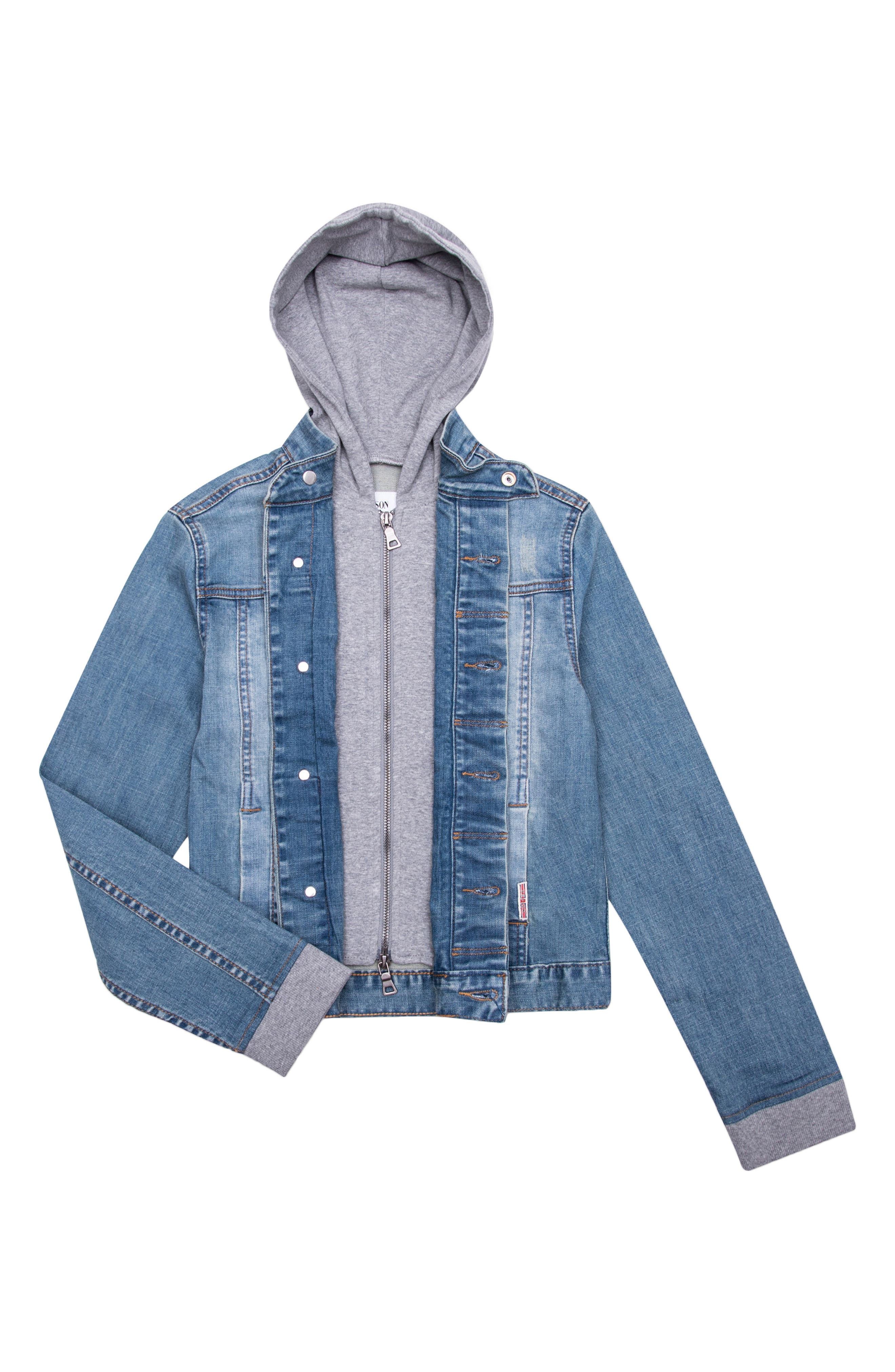 Hudson Kids Hooded Denim Jacket (Toddler Boys, Little Boys & Big Boys)