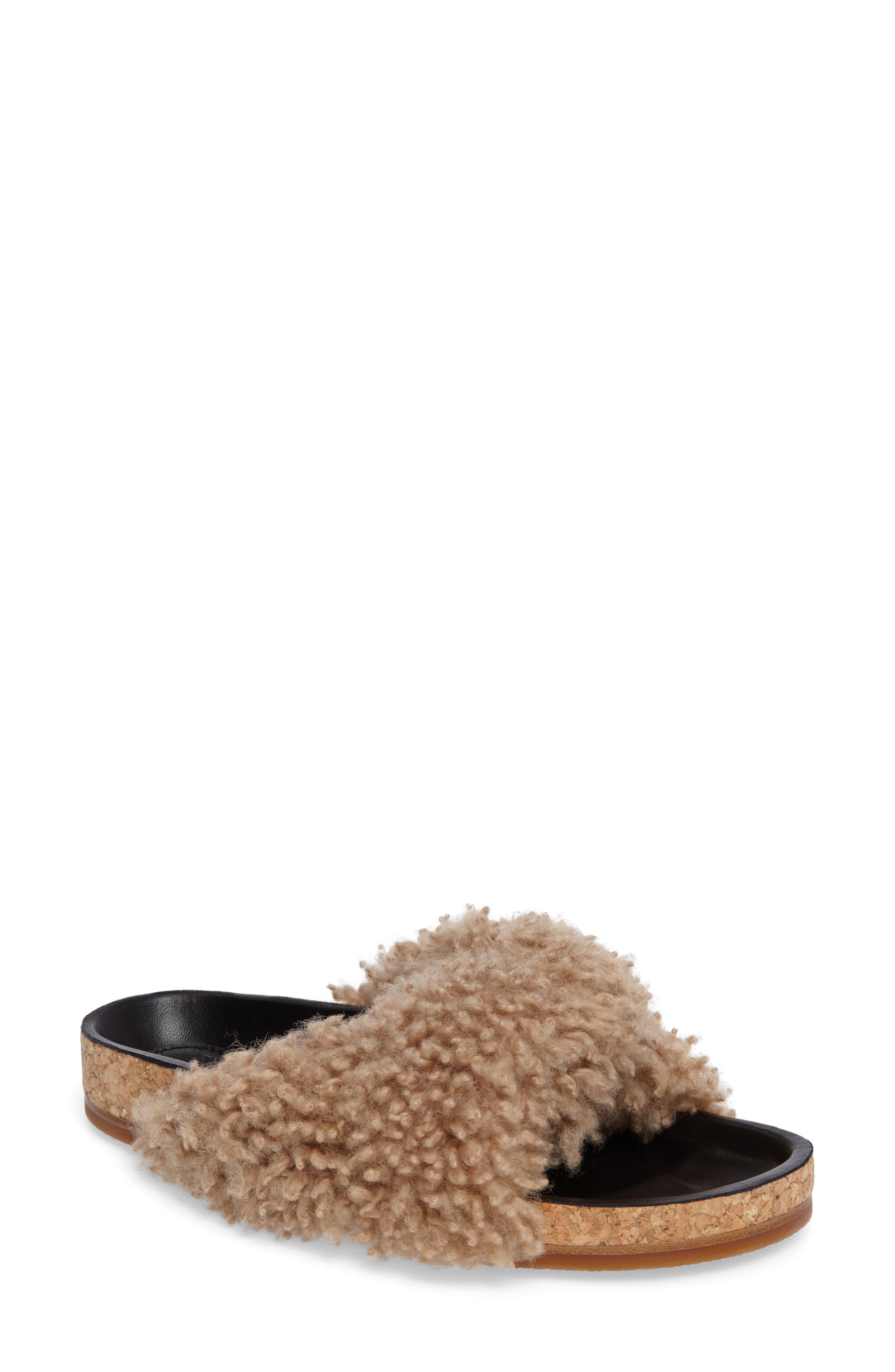 Chloé Kerenn Genuine Shearling Sandal (Women)