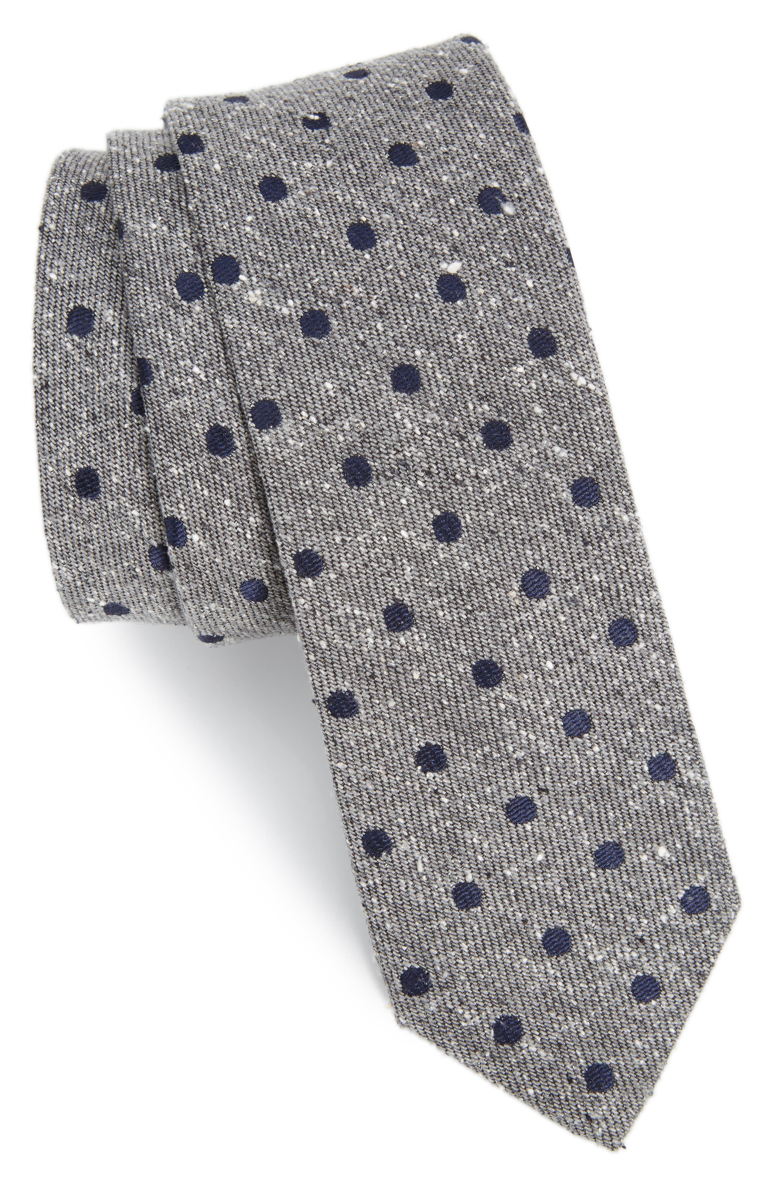 The Tie Bar Revolve Dots Silk Tie