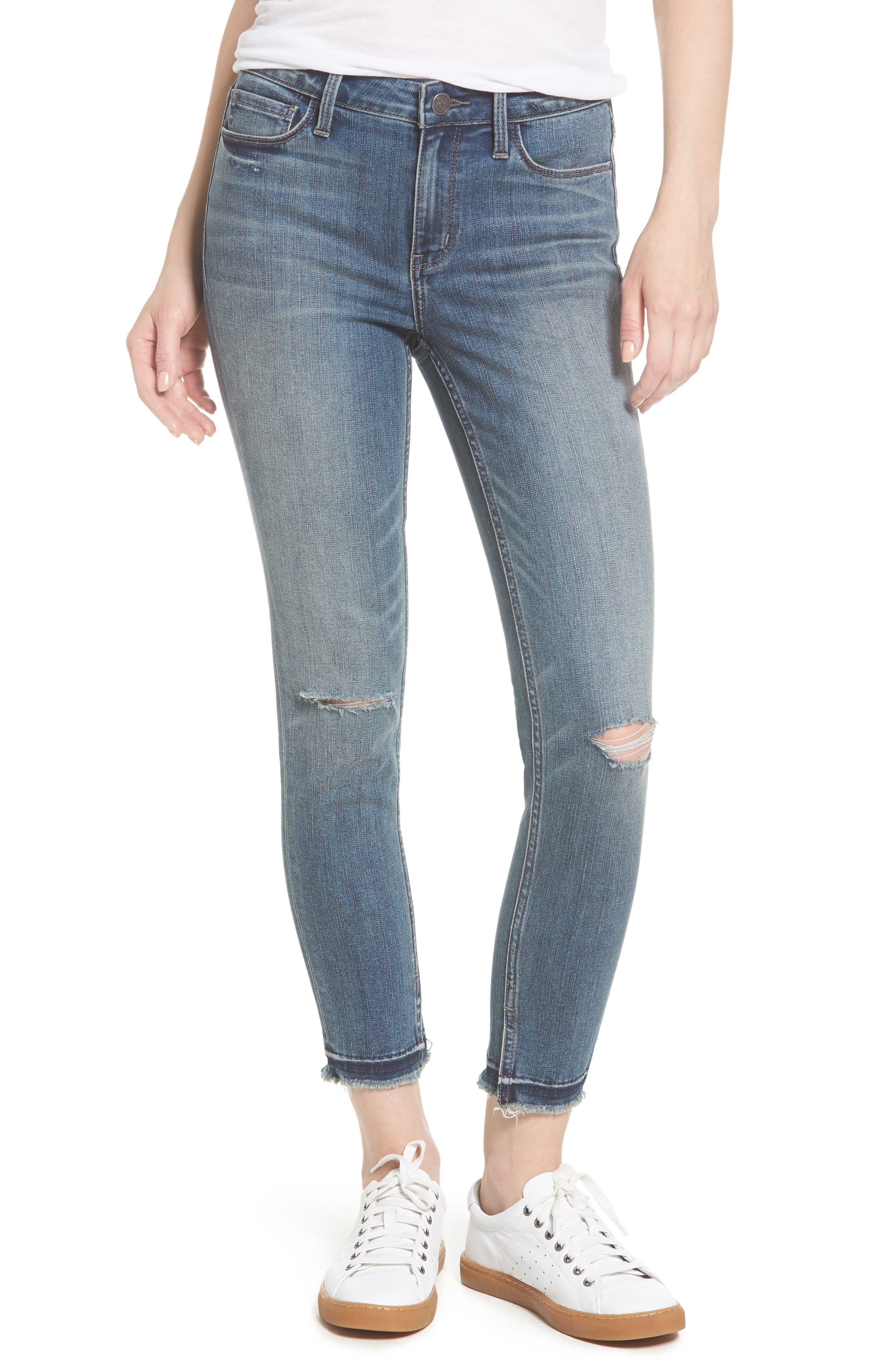 Treasure & Bond Crop Skinny Jeans (Rain Dusk Destroy)