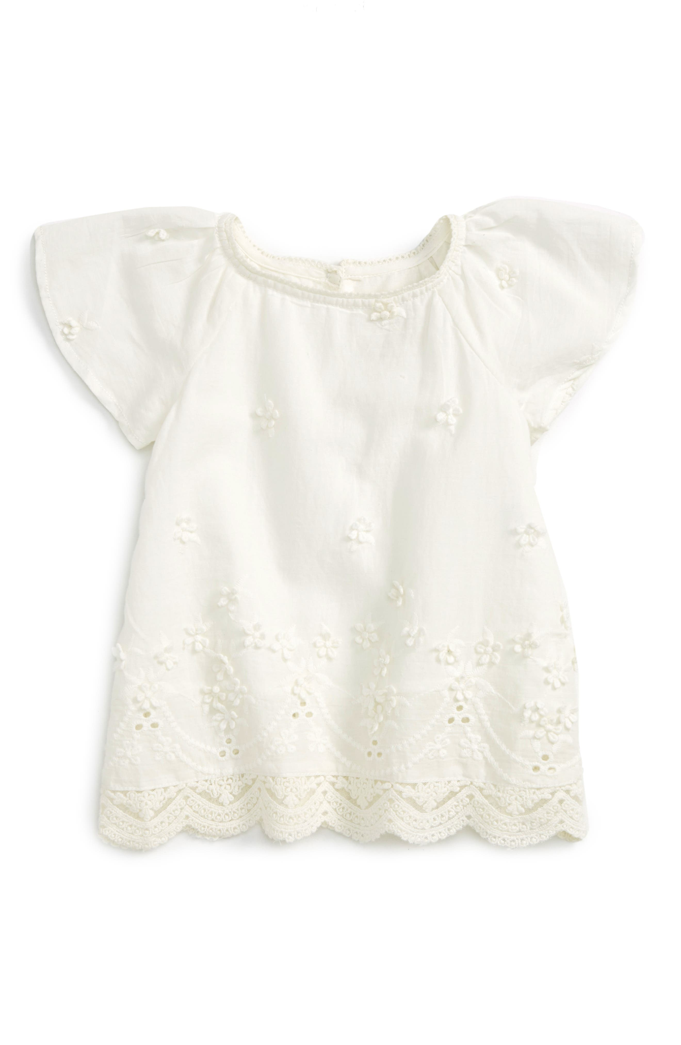 Peek Frances Eyelet Top (Baby Girls)