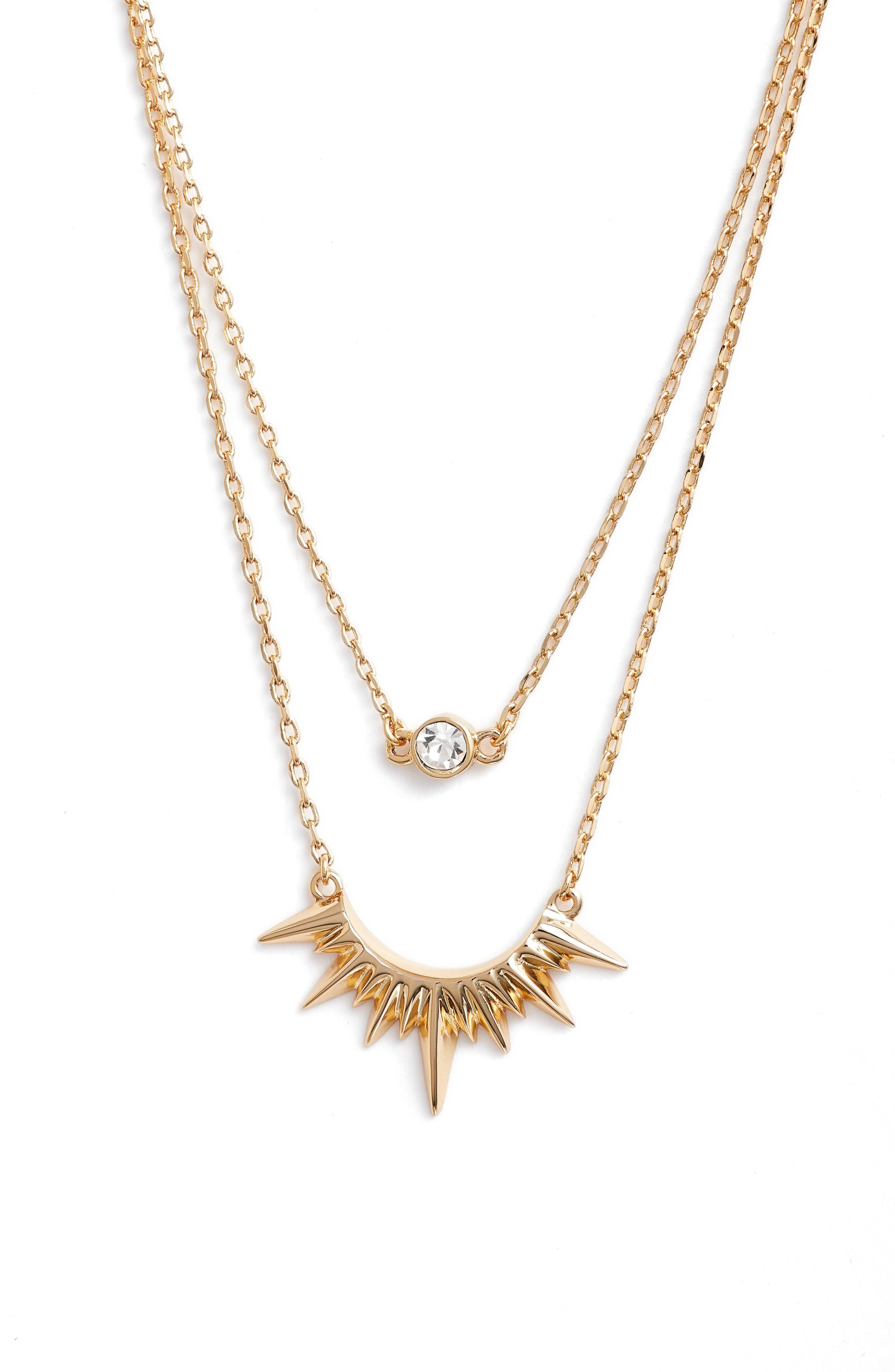Jules Smith Magella Multistrand Pendant Necklace