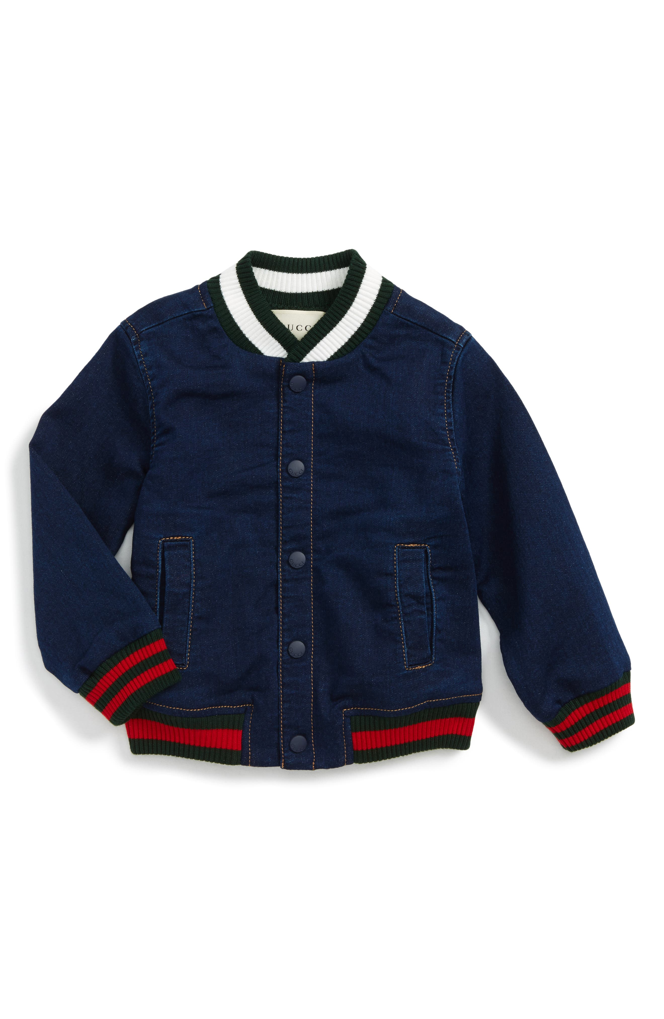 Gucci Chambray Bomber Jacket (Baby Boys)