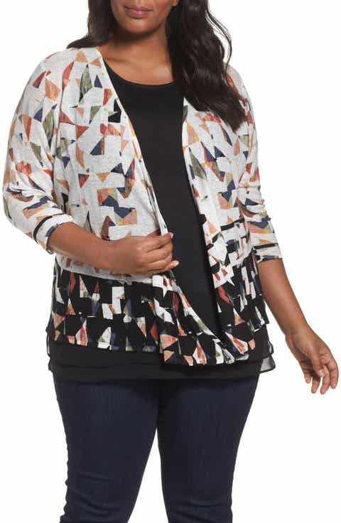 NIC ZOE Grand View 4-Way Convertible Cardigan (Plus Size)