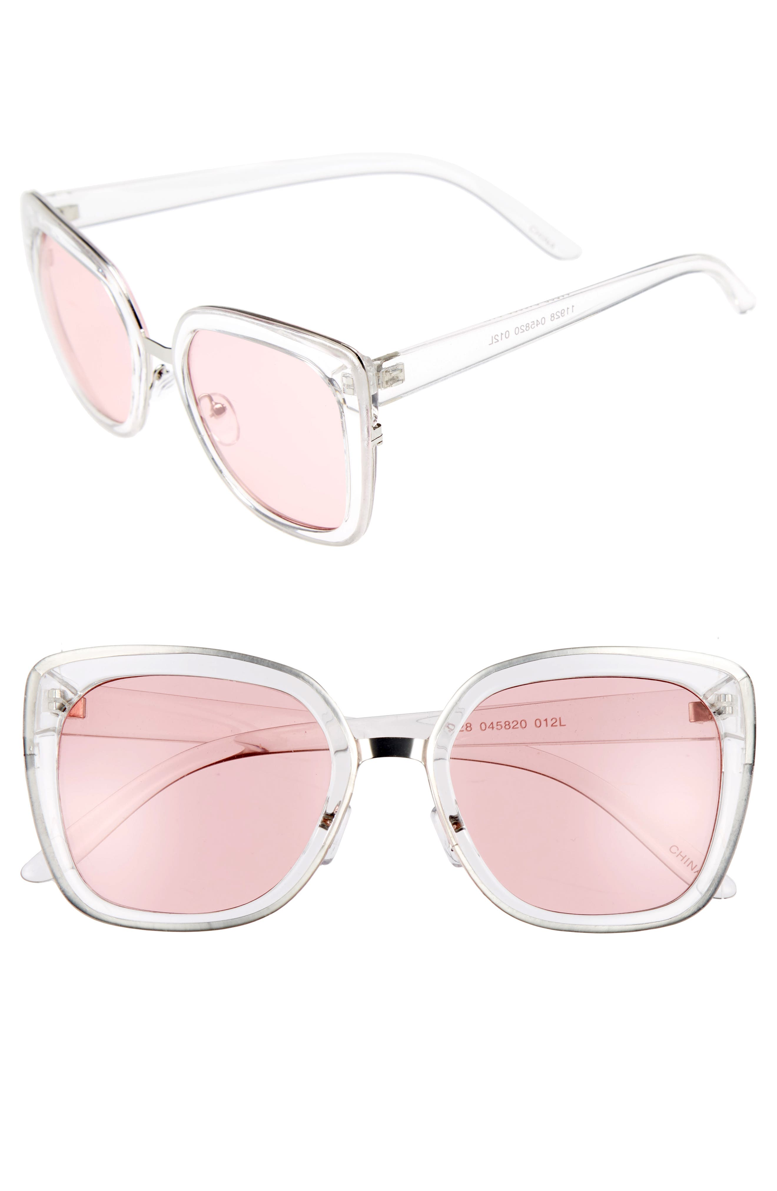 BP. Clear Square Sunglasses