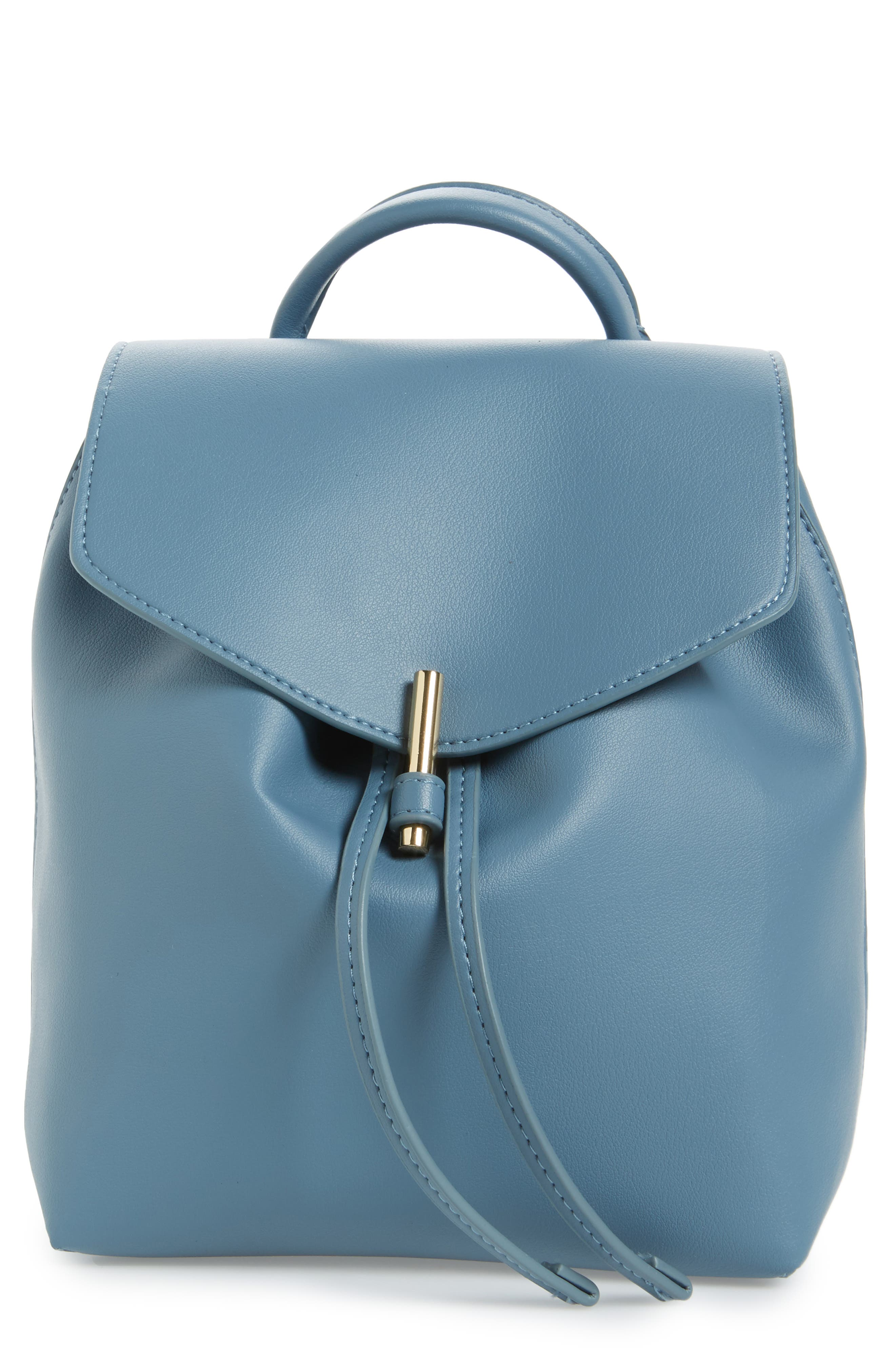 Alternate Image 1 Selected - Topshop Blake Mini Faux Leather Backpack