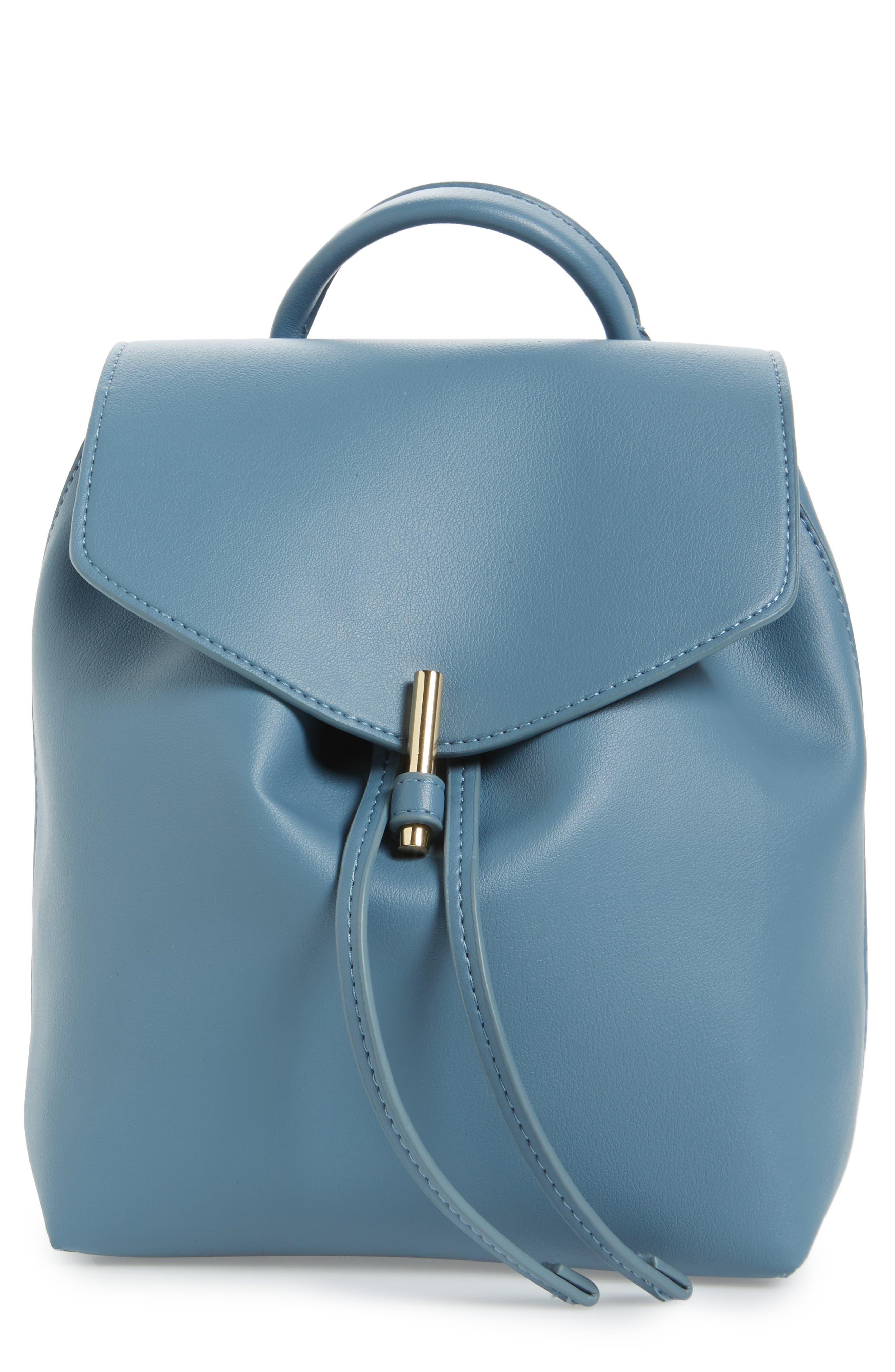 Main Image - Topshop Blake Mini Faux Leather Backpack