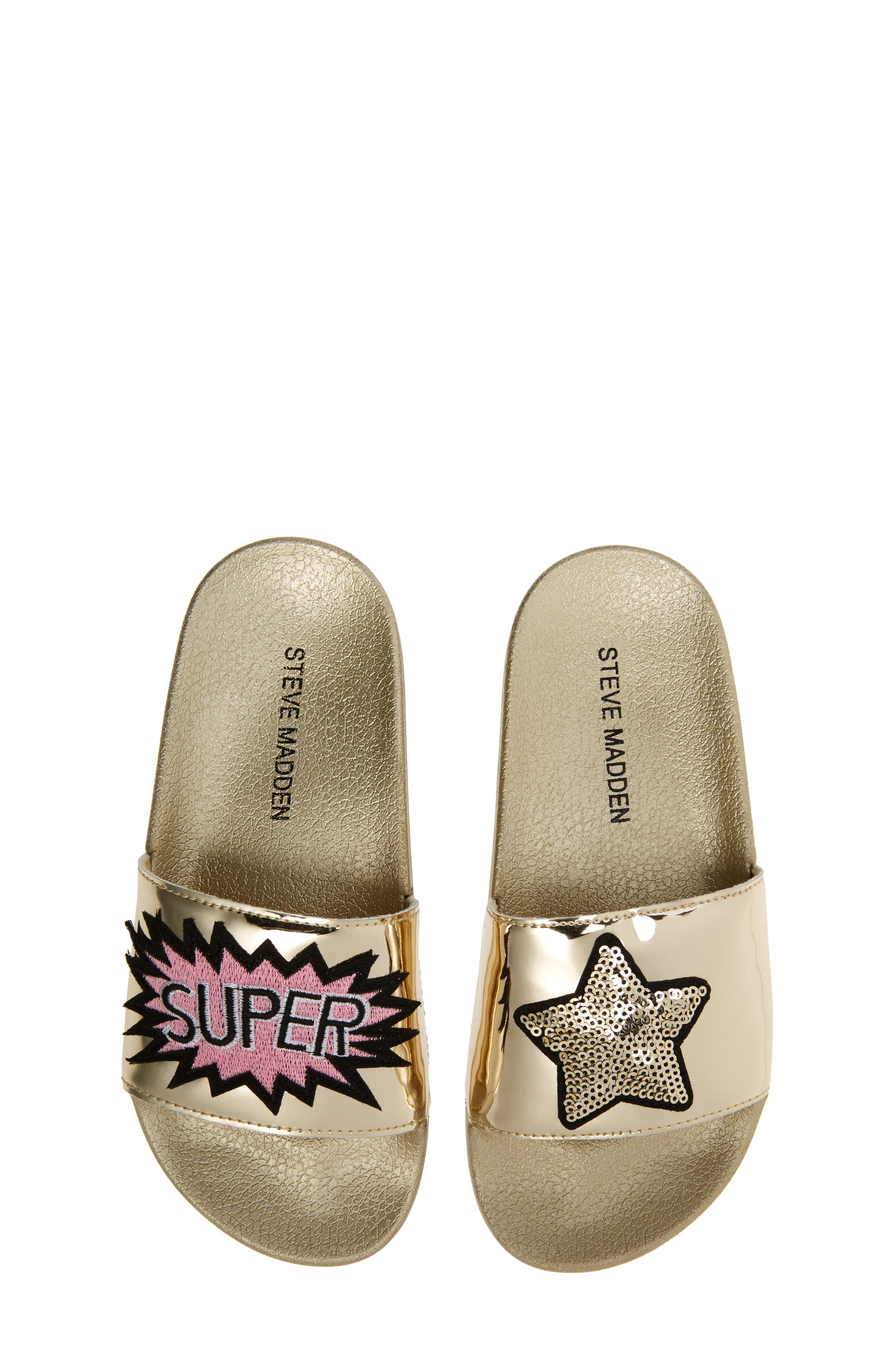 Steve Madden Jgrltalk Appliqué Slide Sandal (Little Kid & Big Kid)