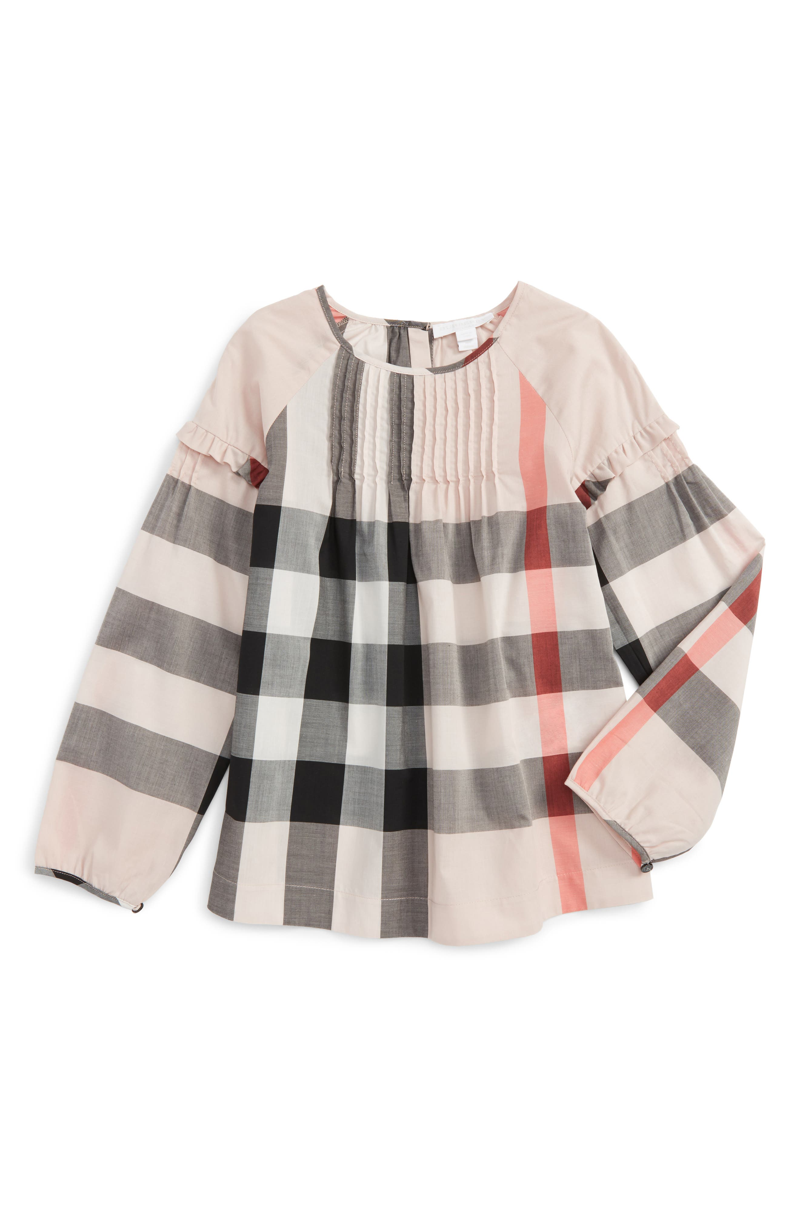 Burberry Check Print Top (Little Girls & Big Girls)