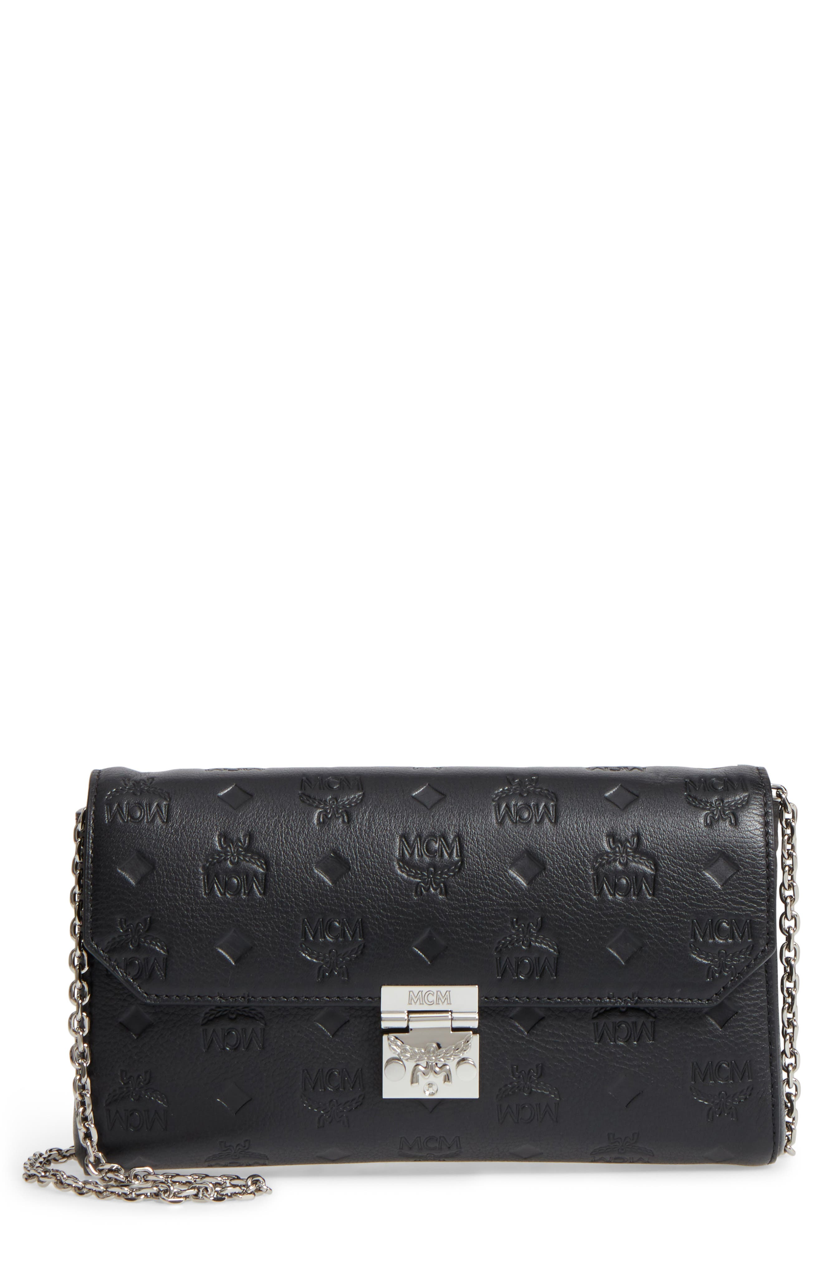 MCM Millie Leather Crossbody Bag