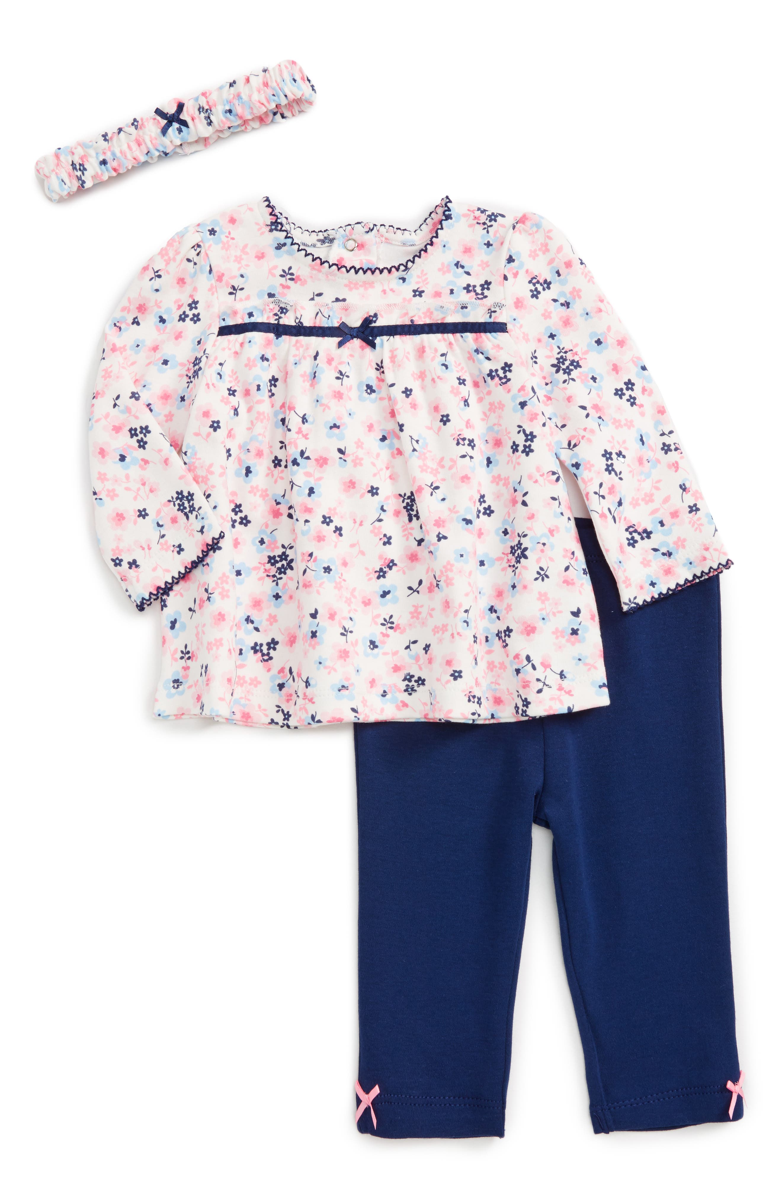 Little Me Petit Floral Tunic, Pants & Headband Set (Baby Girls)
