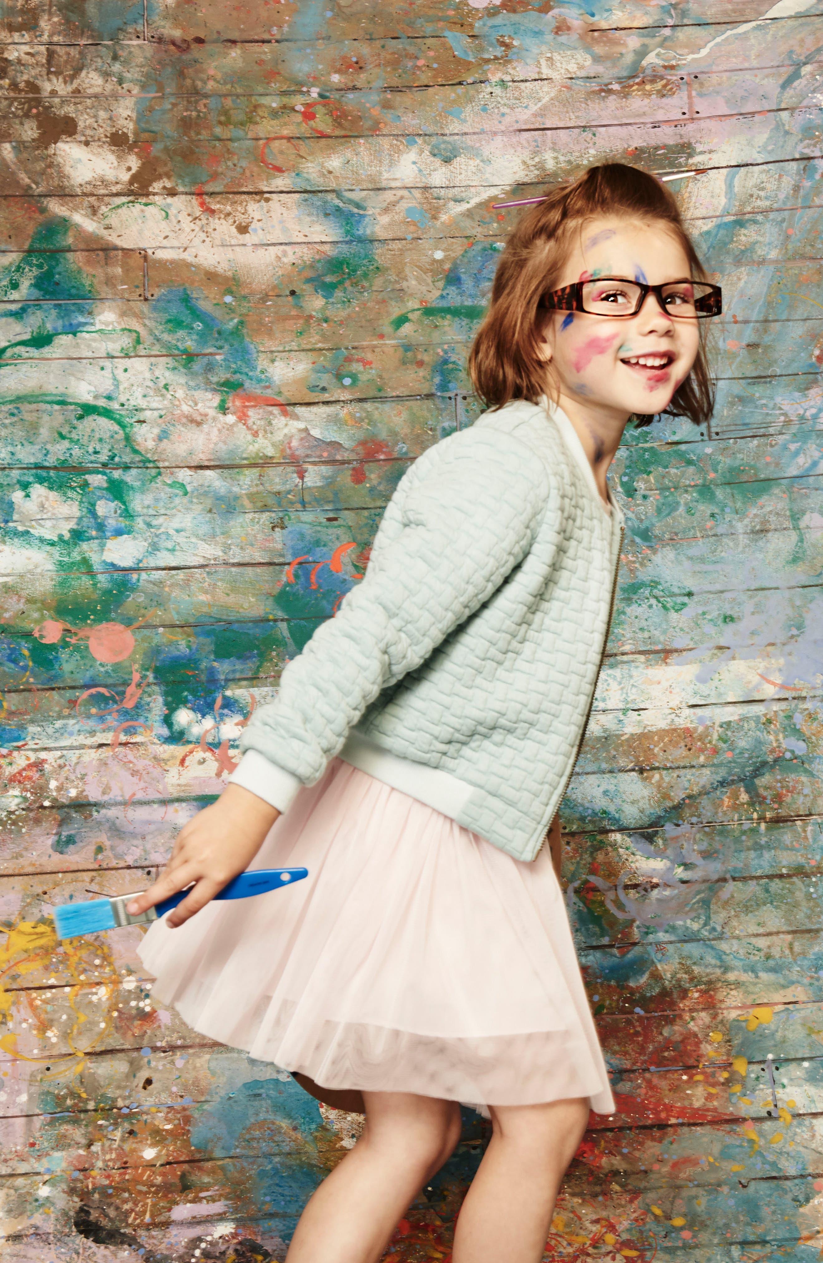 Alternate Image 4  - Pippa & Julie Bomber Jacket & Tulle Dress Set (Toddler Girls & Little Girls)