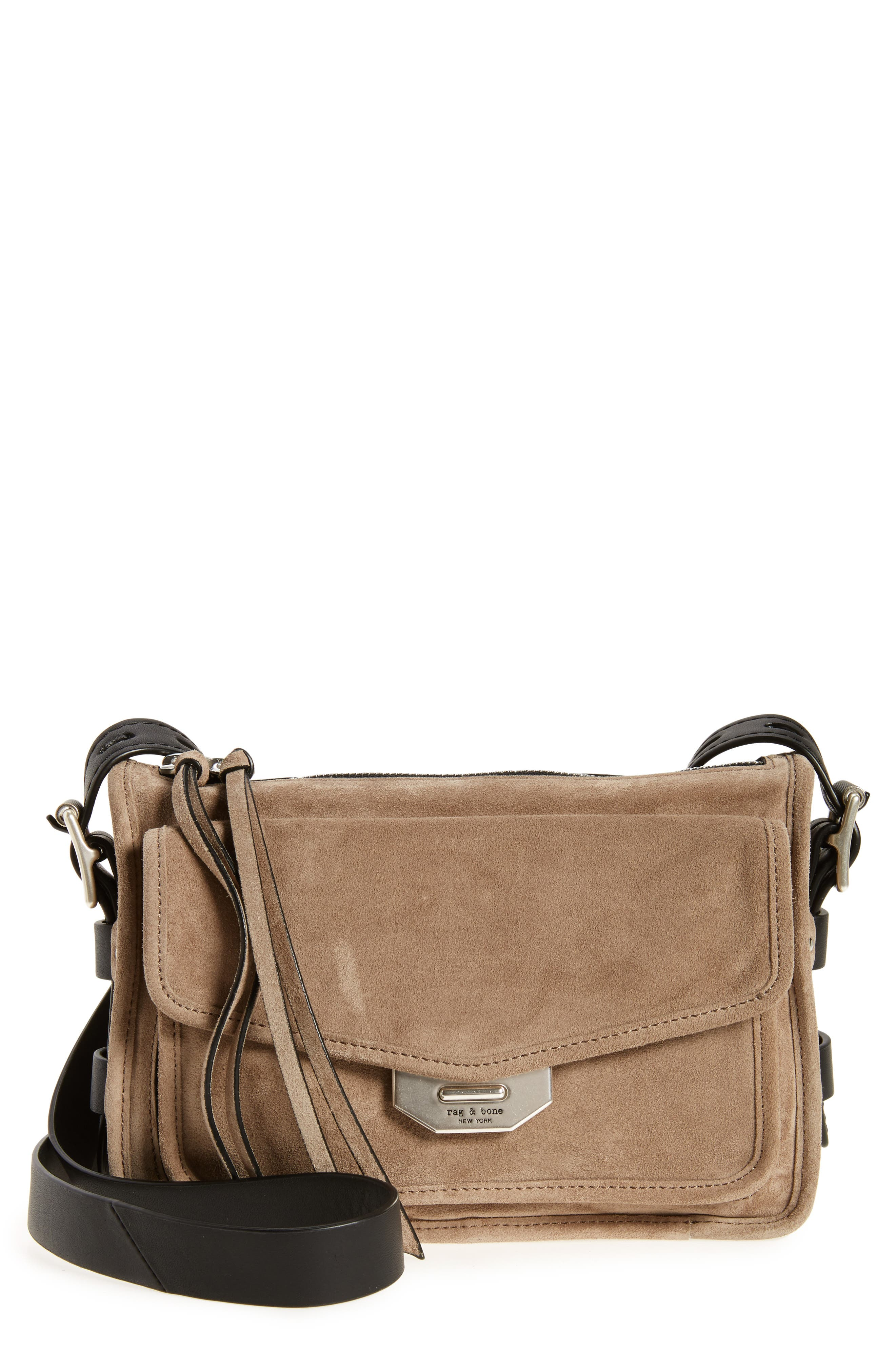 rag & bone Small Bomber Leather Crossbody Bag