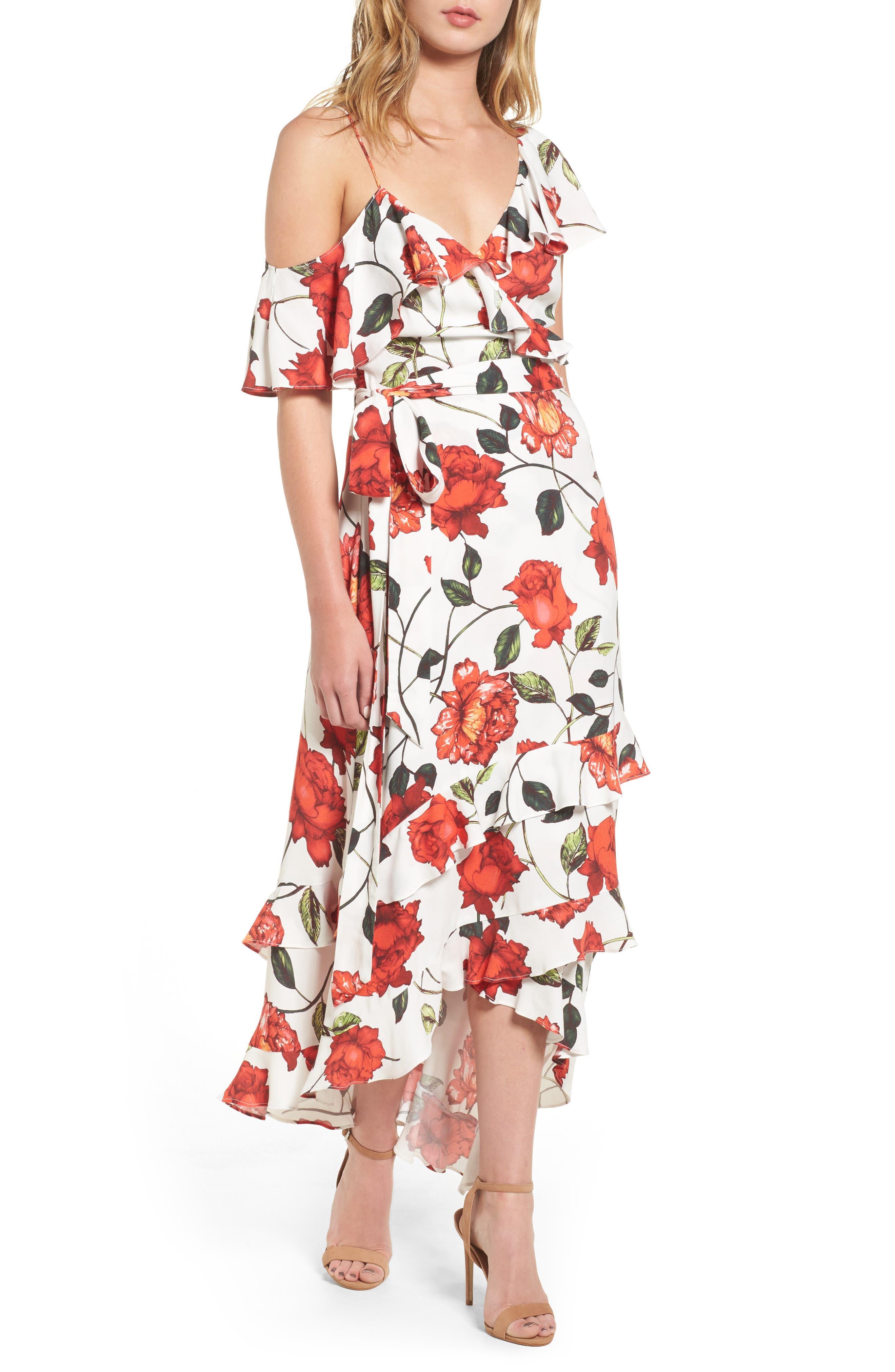 ARRIVE Phoenix Ruffle Wrap Maxi Dress