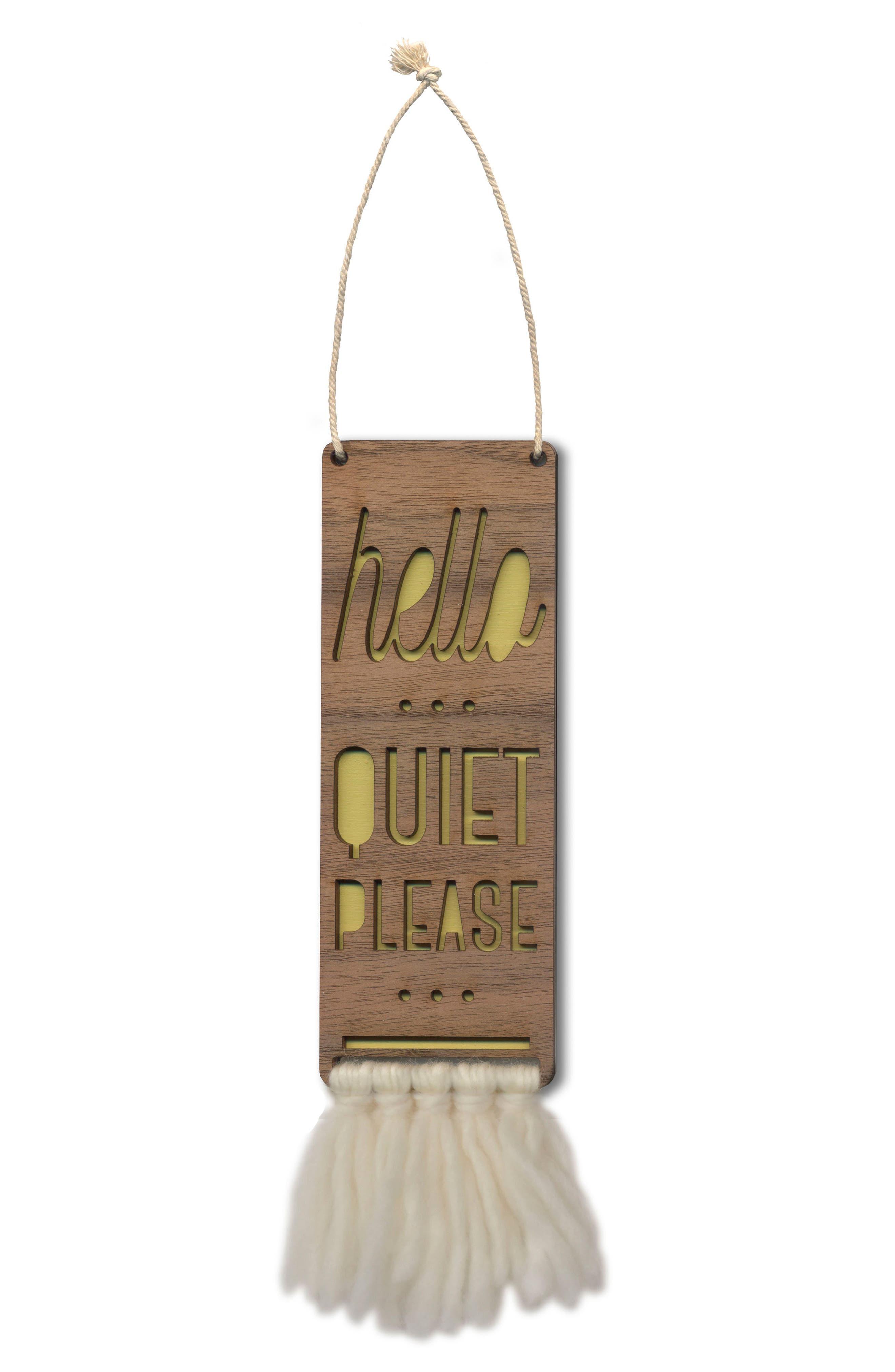 Tree by Kerri Lee Hello Quiet Please Door Sign