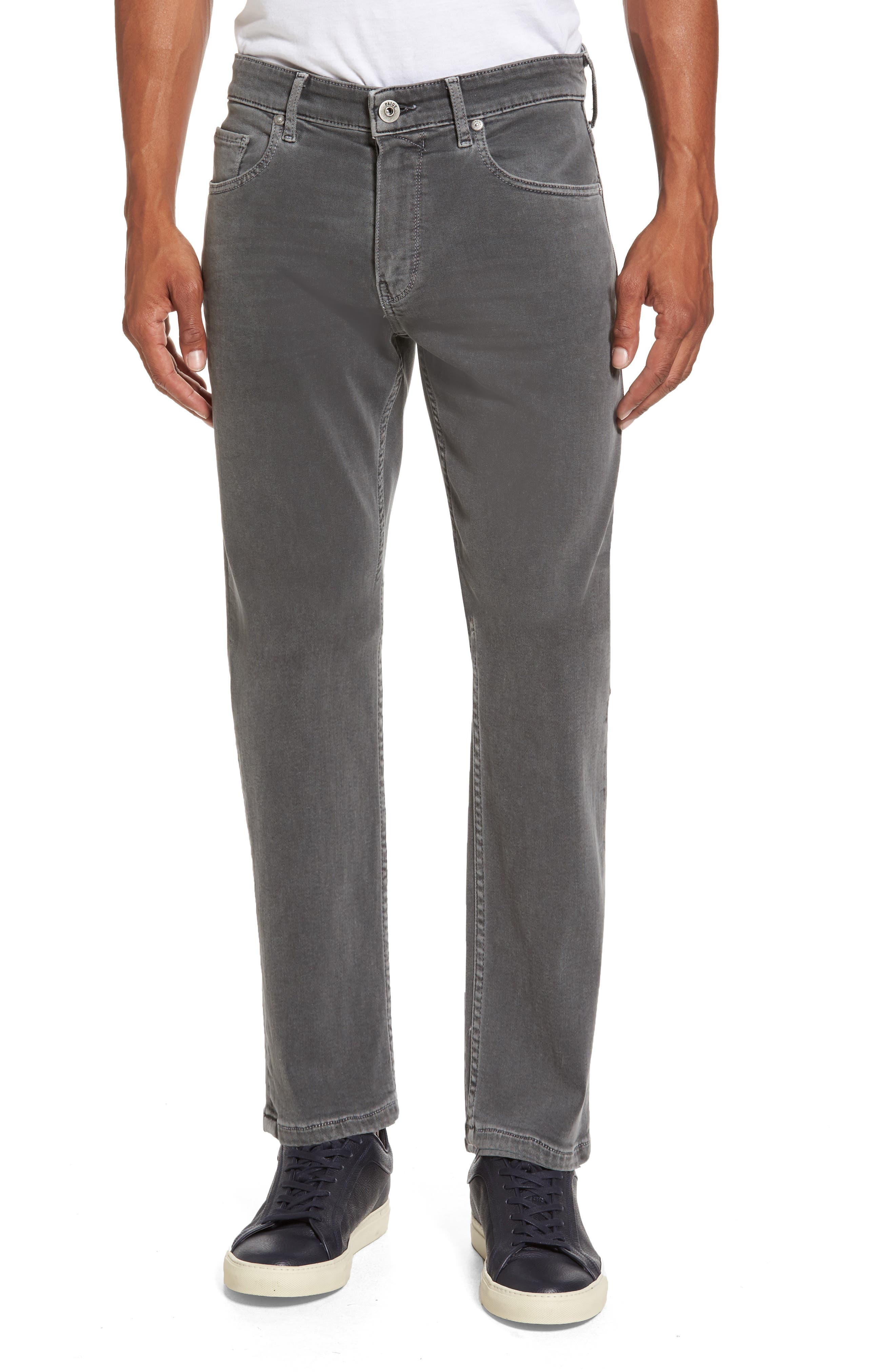 PAIGE Transcend - Federal Slim Straight Fit Jeans (Vintage Whitecap Grey)