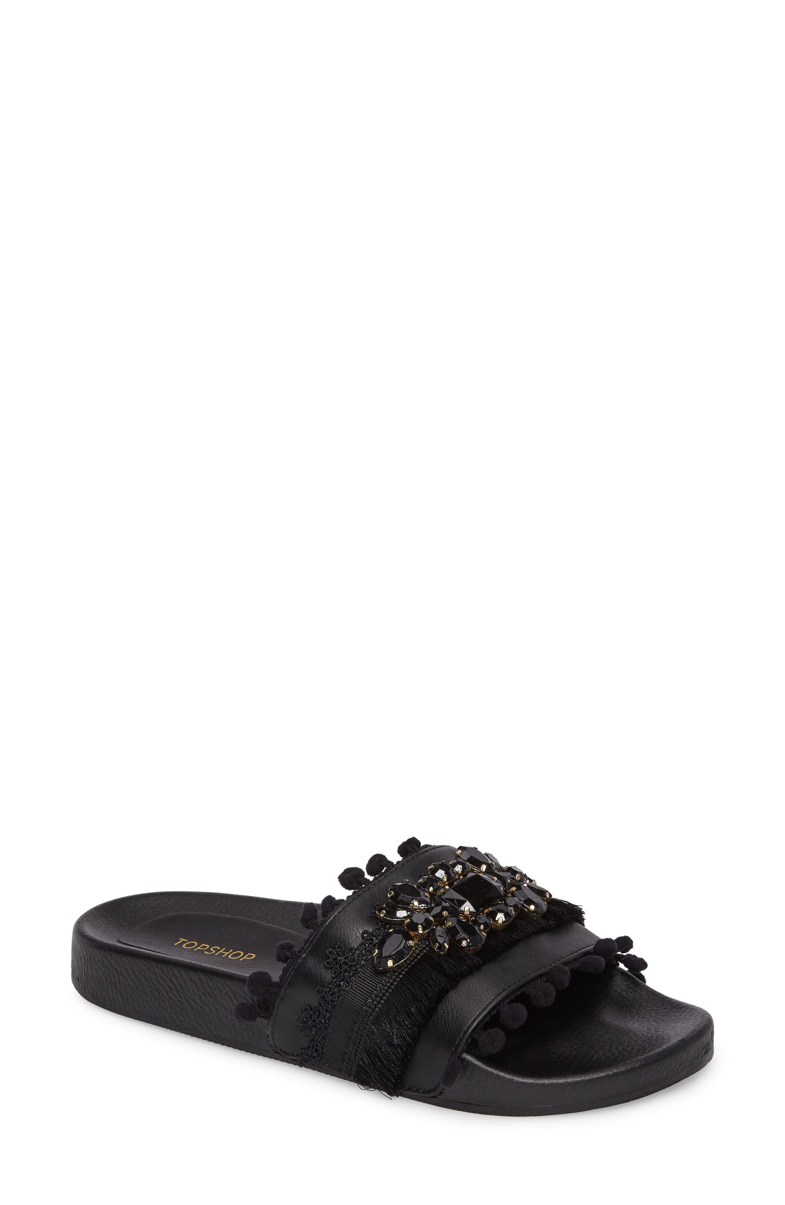 Topshop Hero Embellished Slide Sandal (Women)
