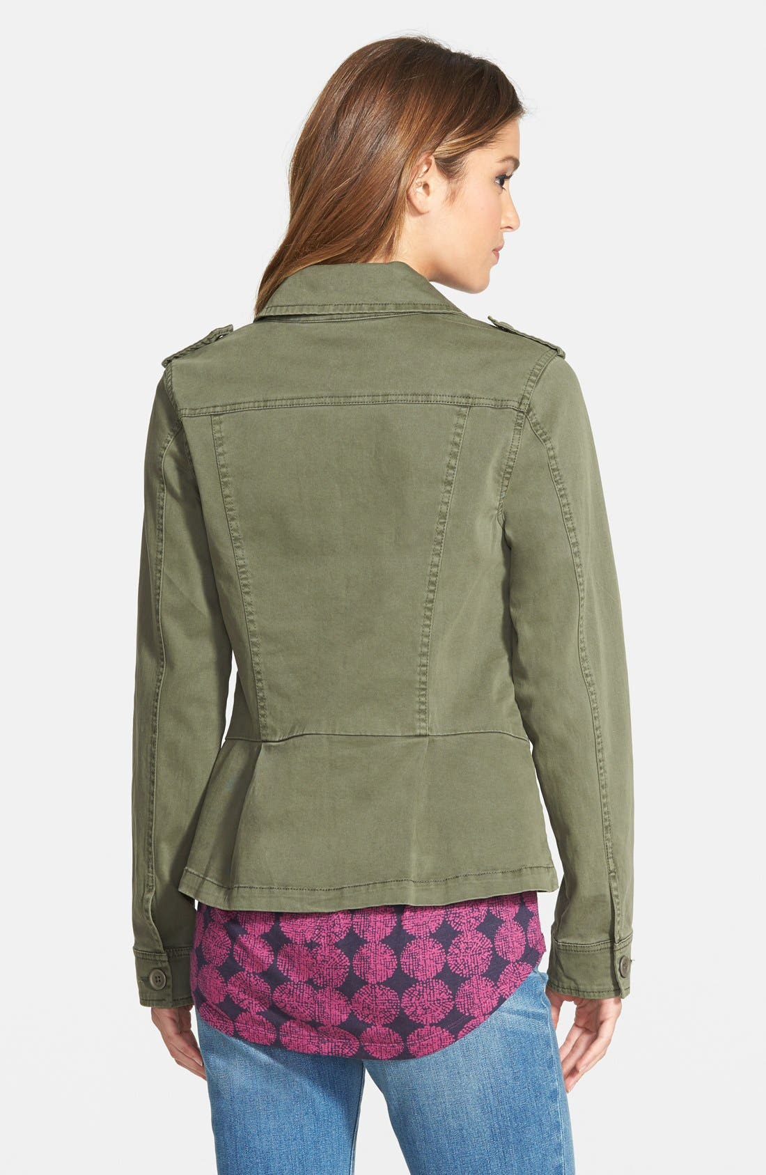 Alternate Image 2  - Sanctuary 'Troop' Cotton Twill Peplum Jacket