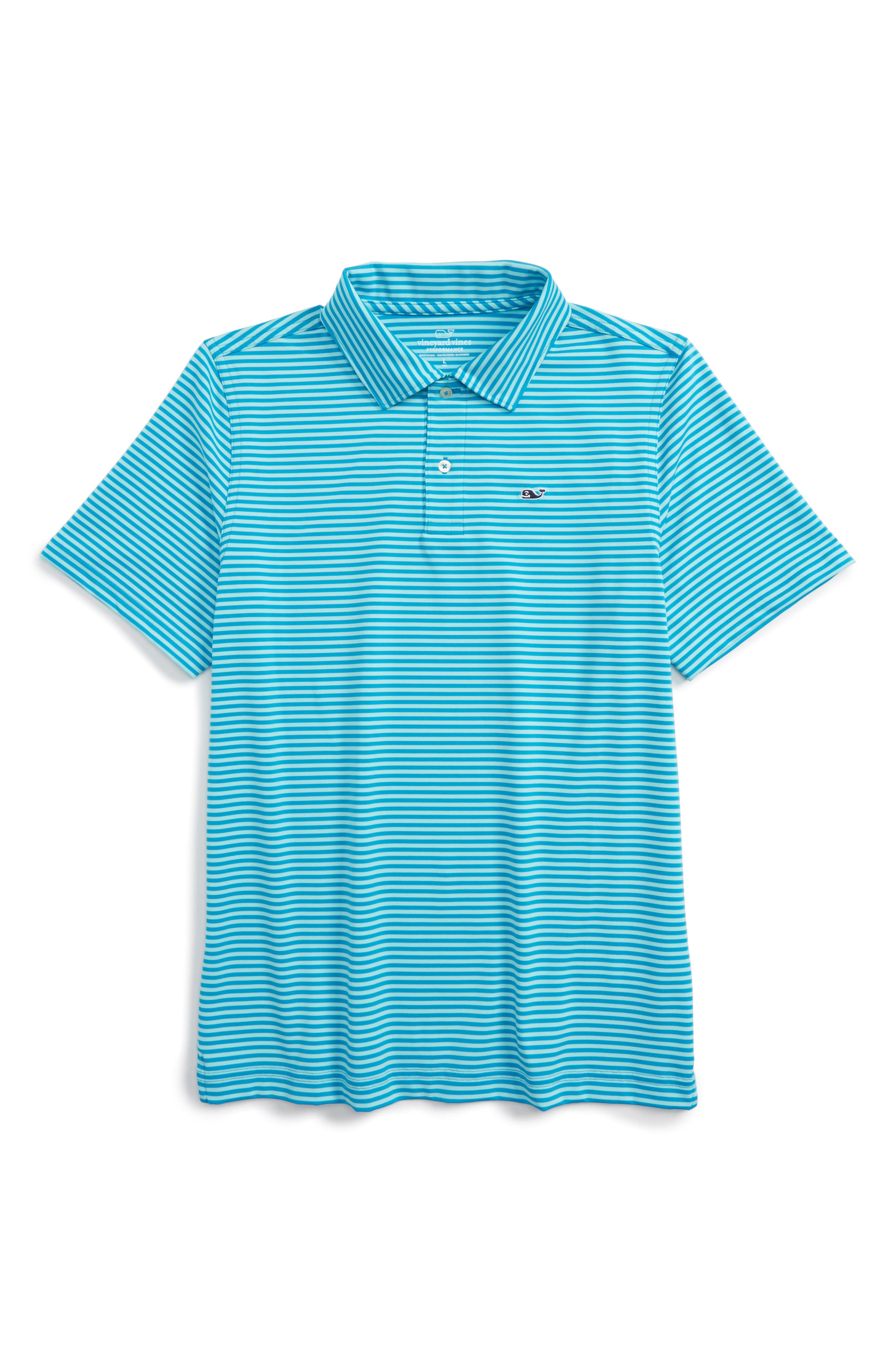 Vineyard Vines Color & Color Feeder Stripe Performance Polo (Toddler Boys, Little Boys & Big Boys)