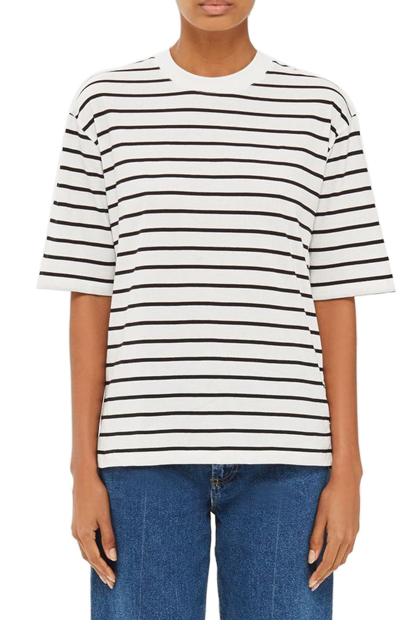 Topshop Boutique Snap Side Stripe Tee